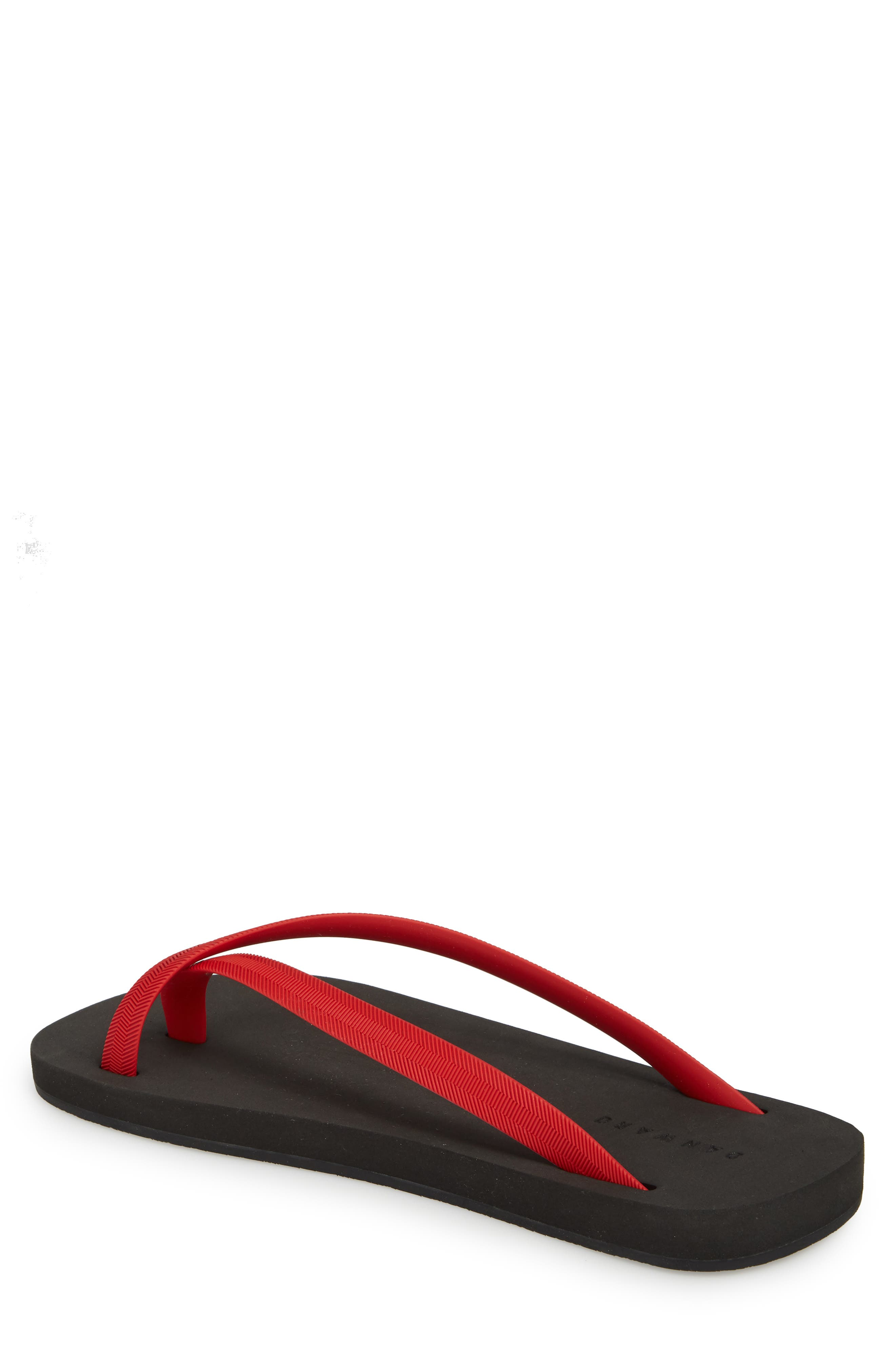 Cross Toe Flip Flop,                             Alternate thumbnail 2, color,                             Red/ Black