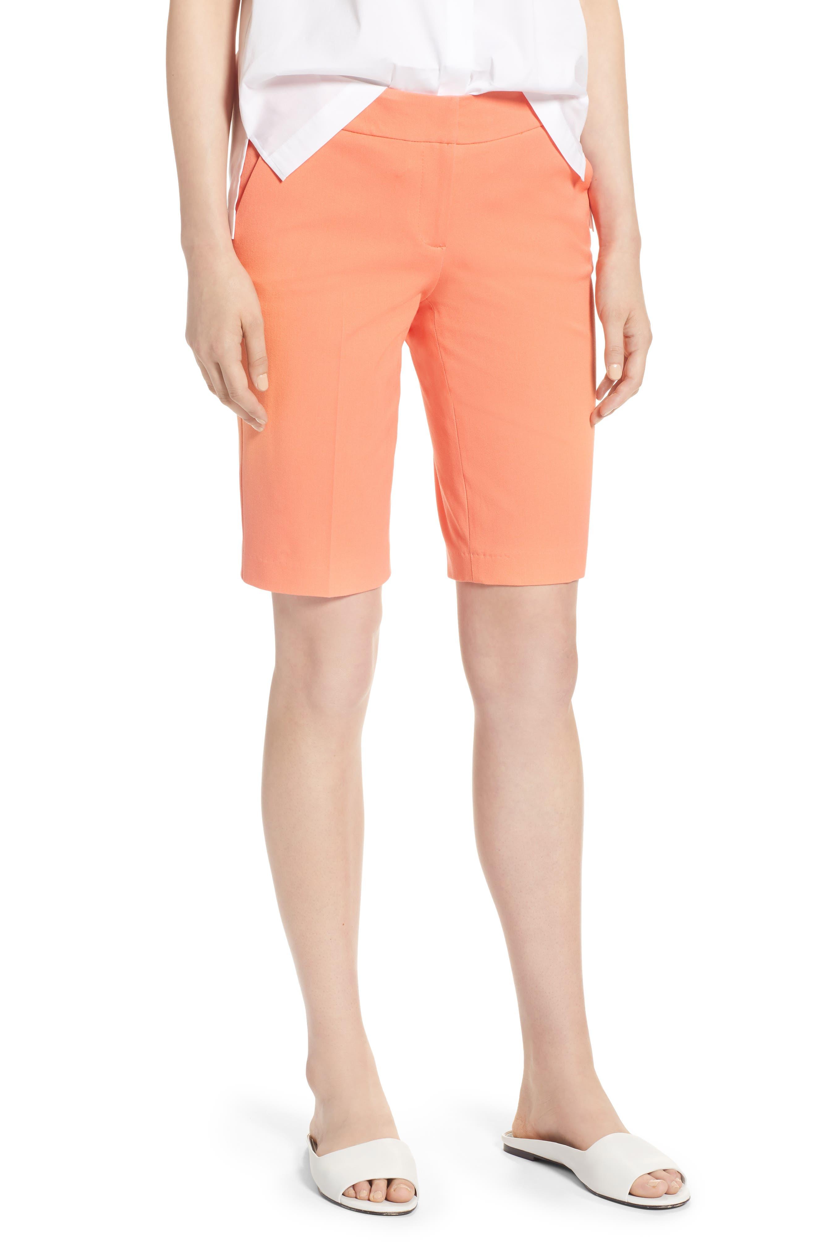 Stretch Bermuda Shorts,                             Main thumbnail 1, color,                             Coral Ocean
