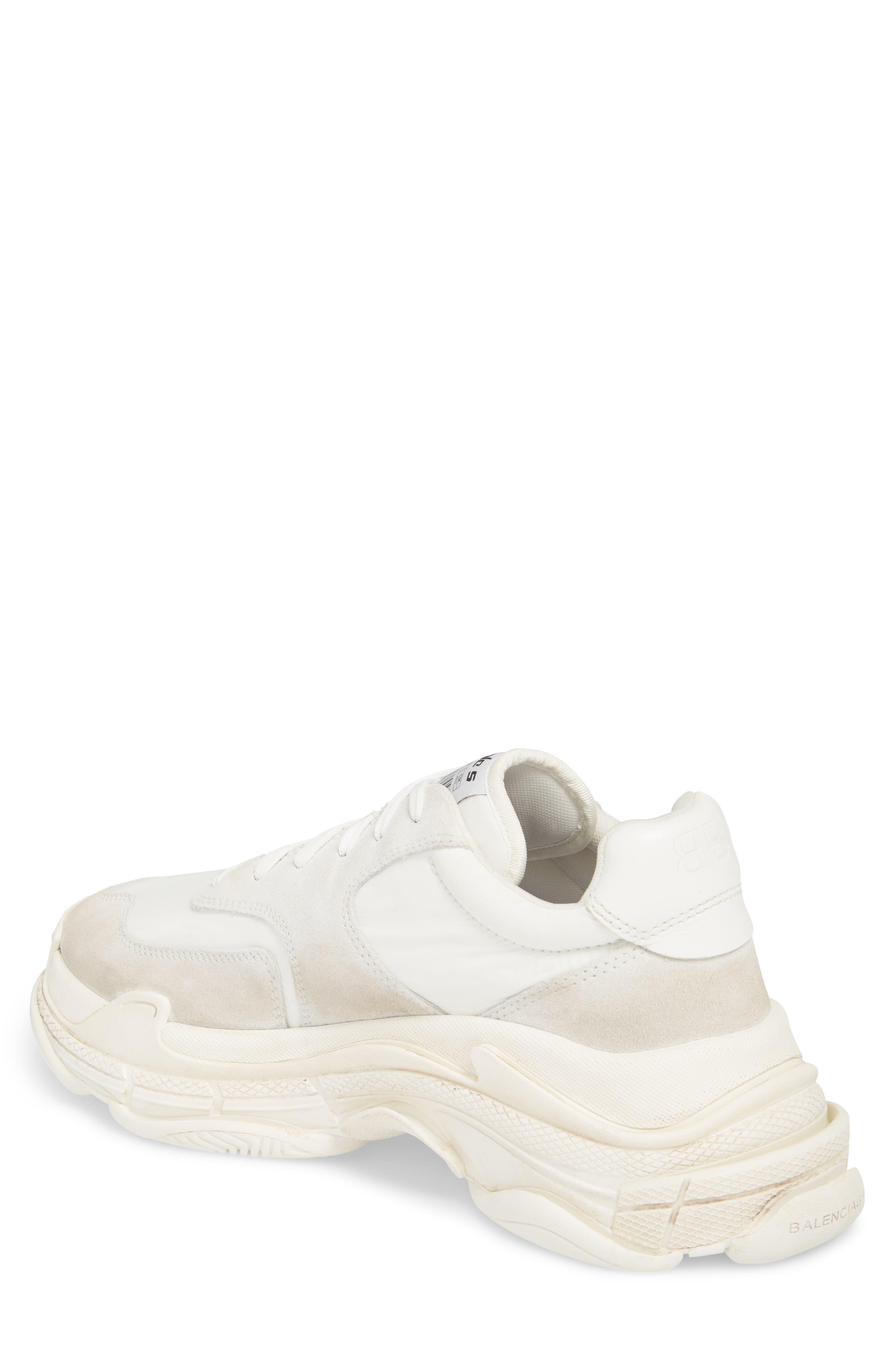 Triple S Retro Sneaker,                             Alternate thumbnail 2, color,                             Blanc White