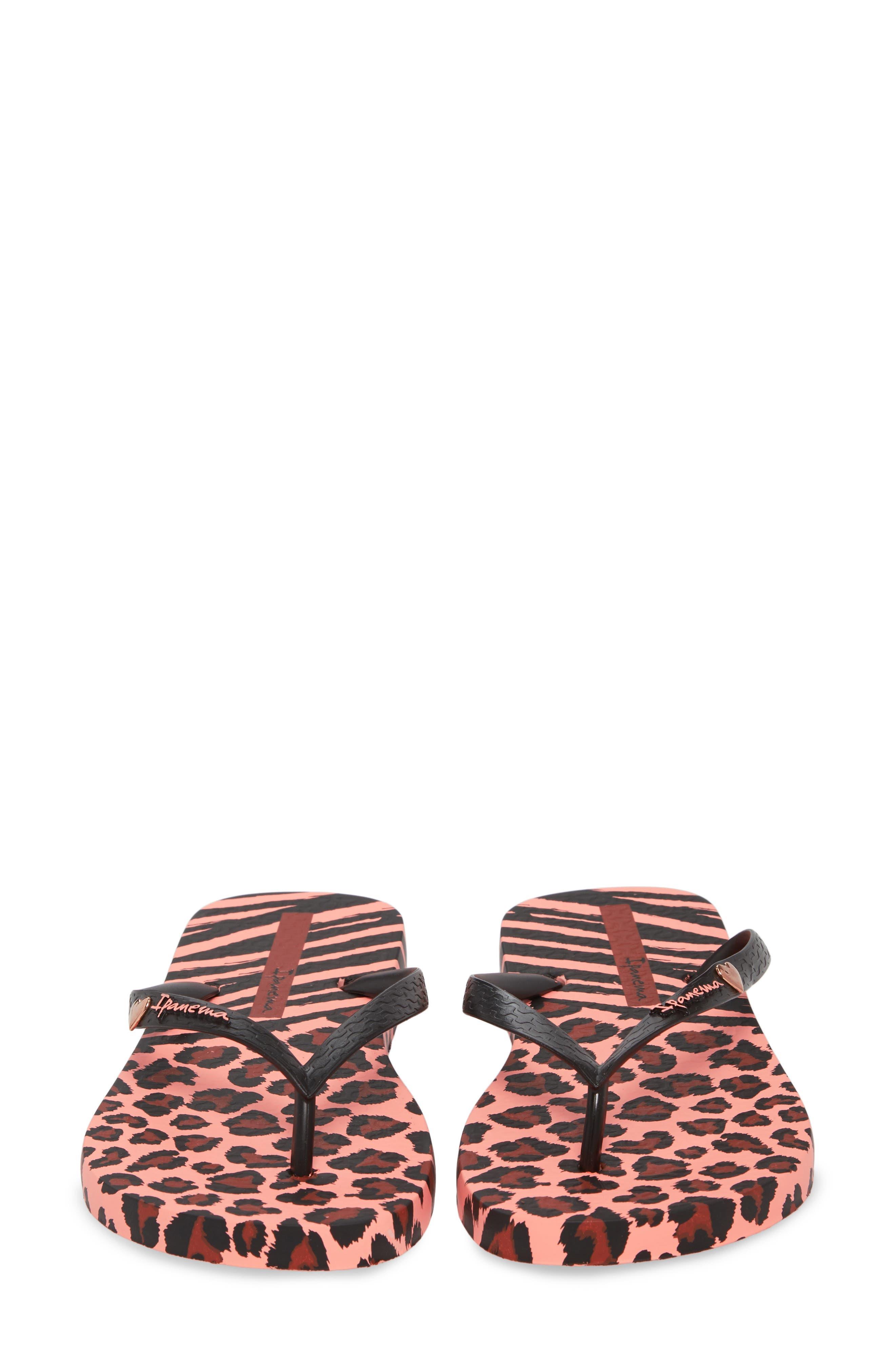 Wild Flip Flop,                             Alternate thumbnail 5, color,                             Pink/ Black