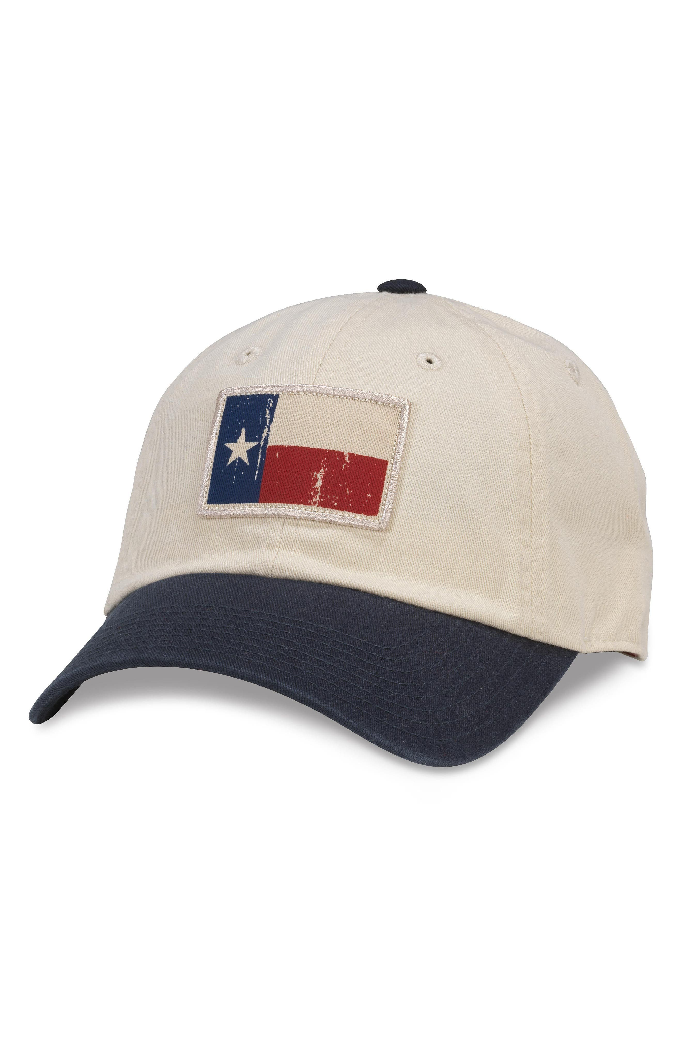 Badger Slouch - Texas Baseball Cap,                         Main,                         color, Ivory/ Navy