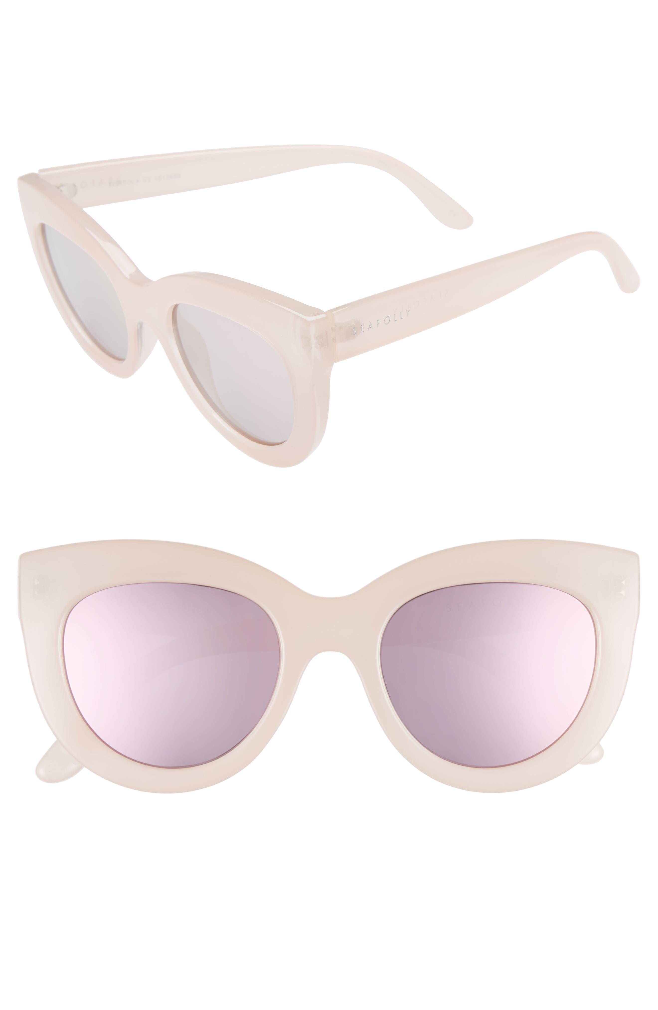 Torola V2 51mm Cat Eye Sunglasses,                             Main thumbnail 1, color,                             Blossom
