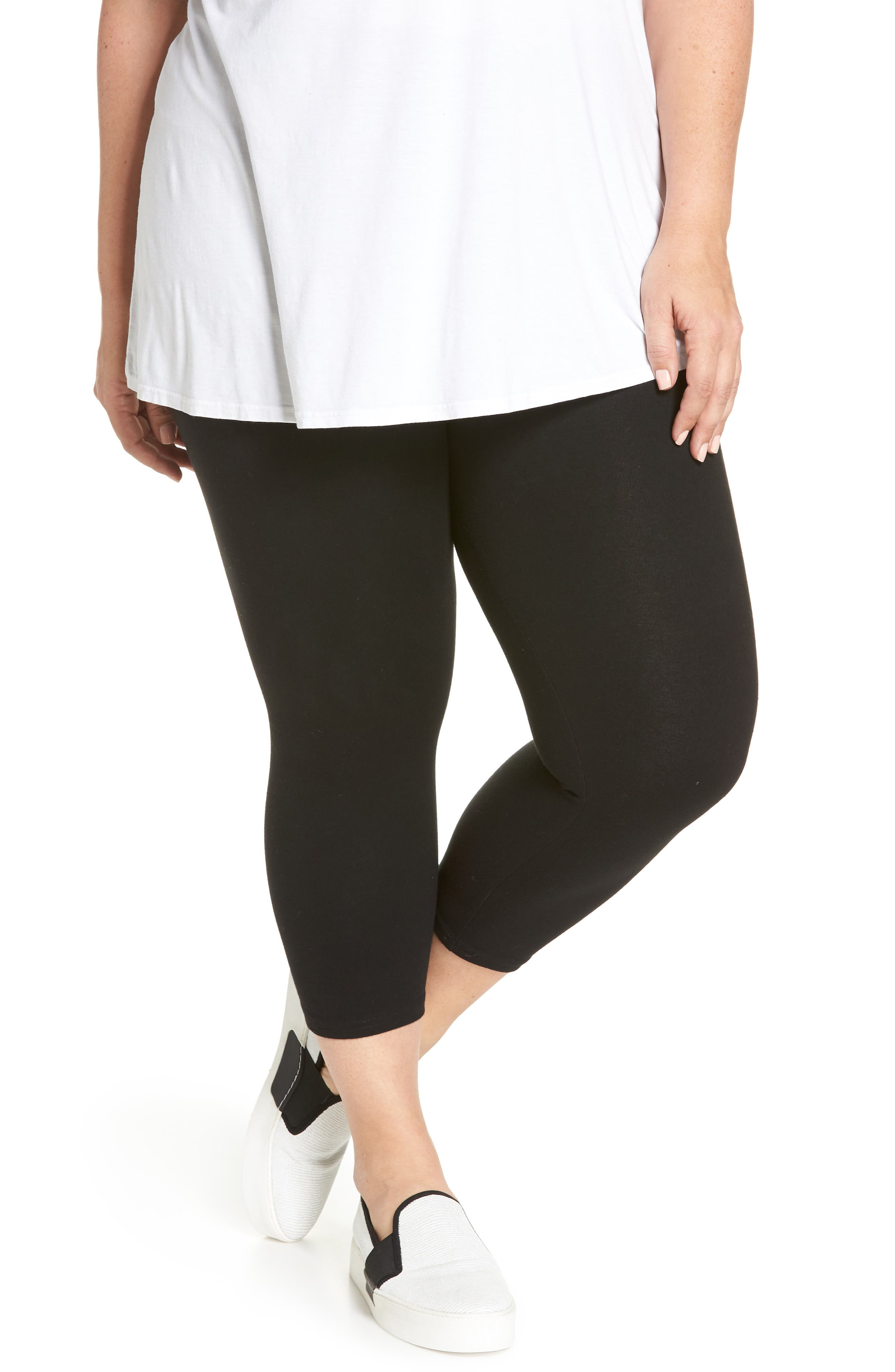 Nordstrom Go To High Waist Crop Leggings (Plus Size)