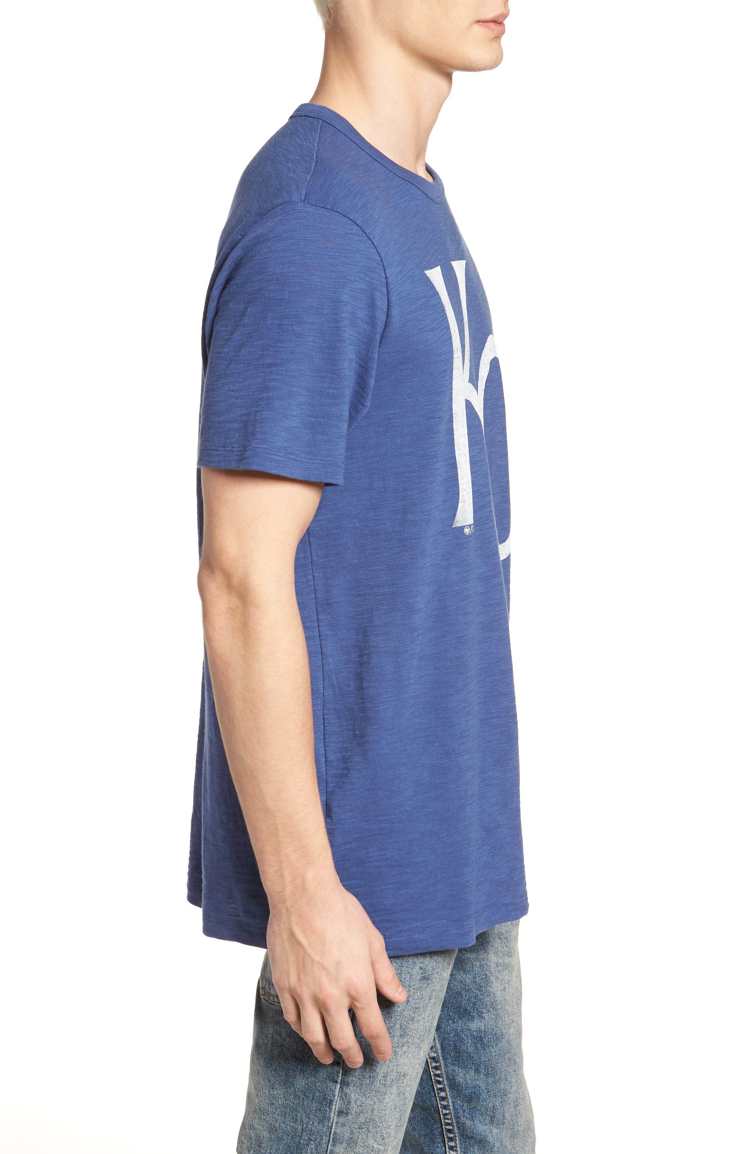 MLB Grit Scrum Kansas City Royals T-Shirt,                             Alternate thumbnail 3, color,                             Bleacher Blue