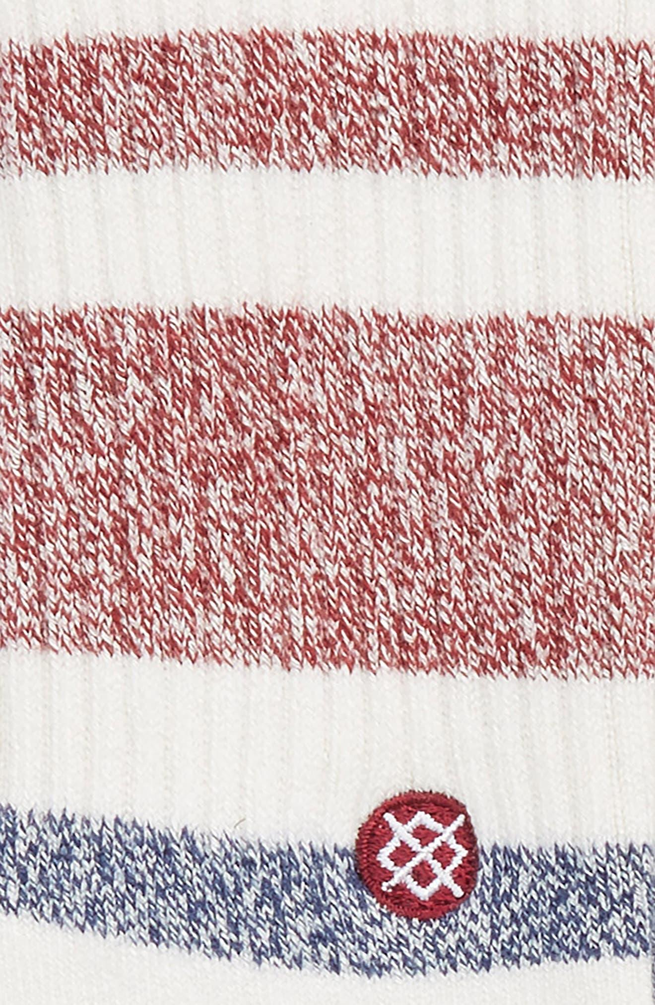 Robinsen Stripe Socks,                             Alternate thumbnail 2, color,                             Red