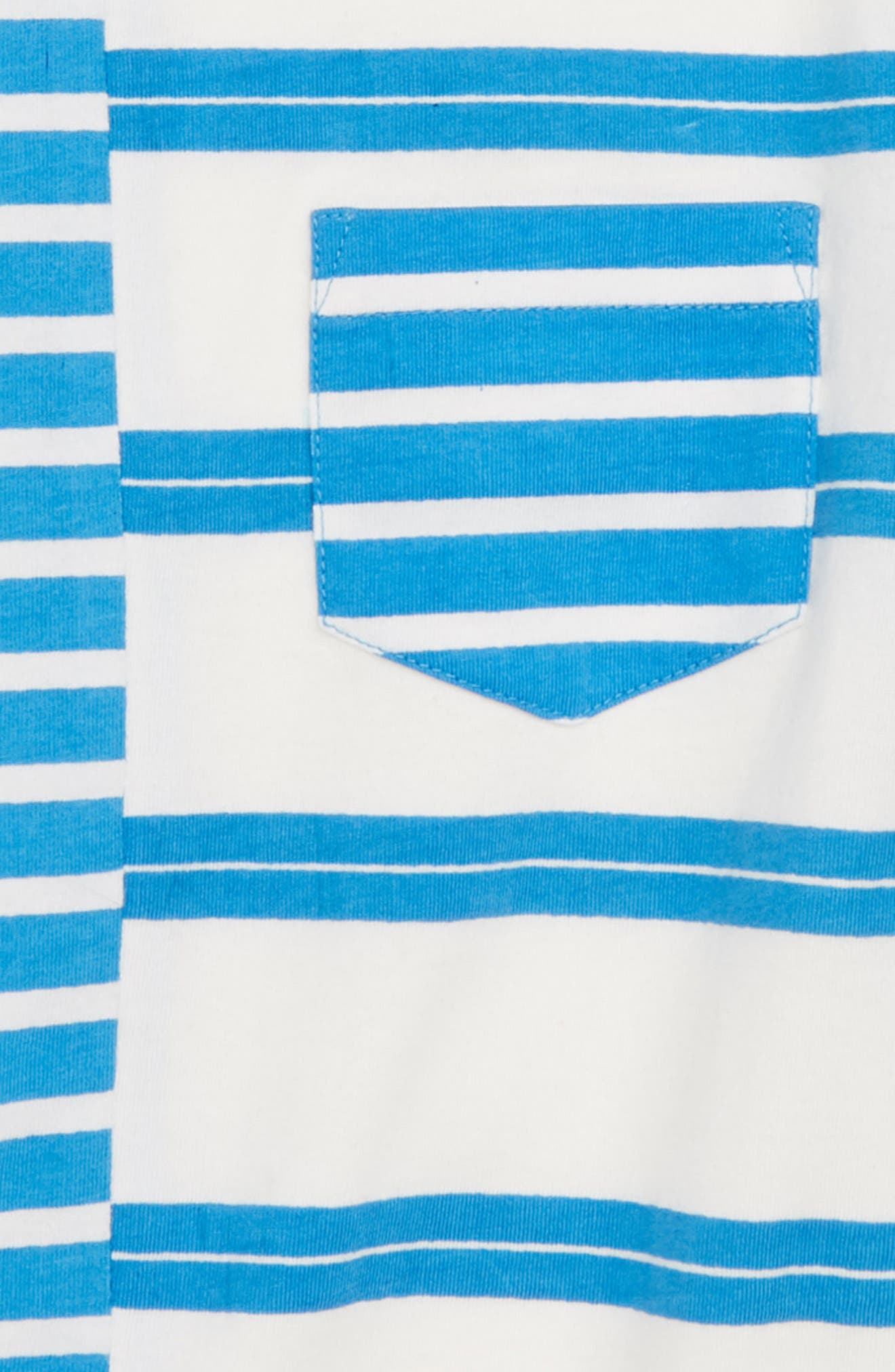 Spliced Stripe T-Shirt,                             Alternate thumbnail 2, color,                             Blue French- White
