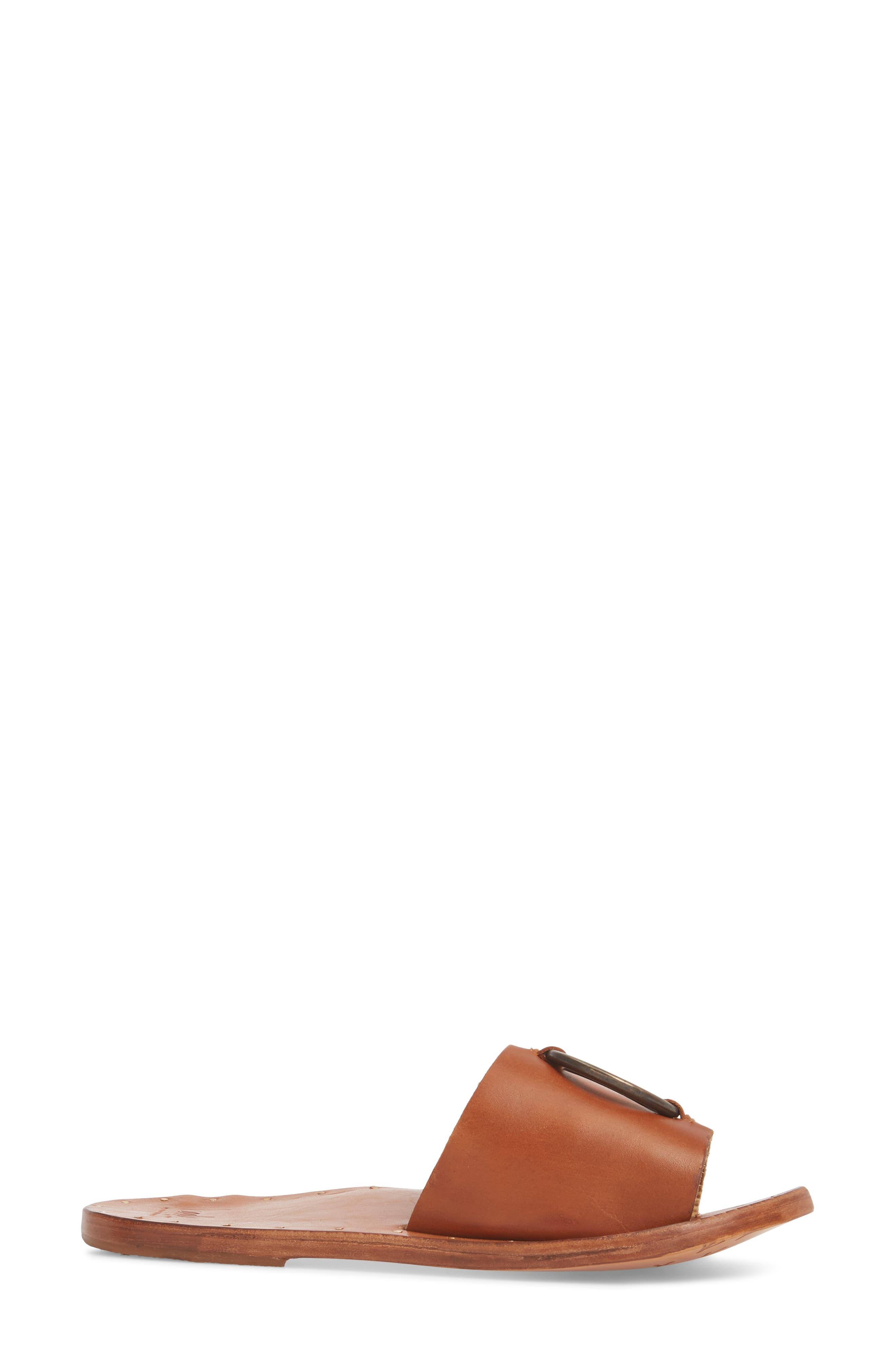 Cockatoo Slide Sandal,                             Alternate thumbnail 3, color,                             Tan/ Tan