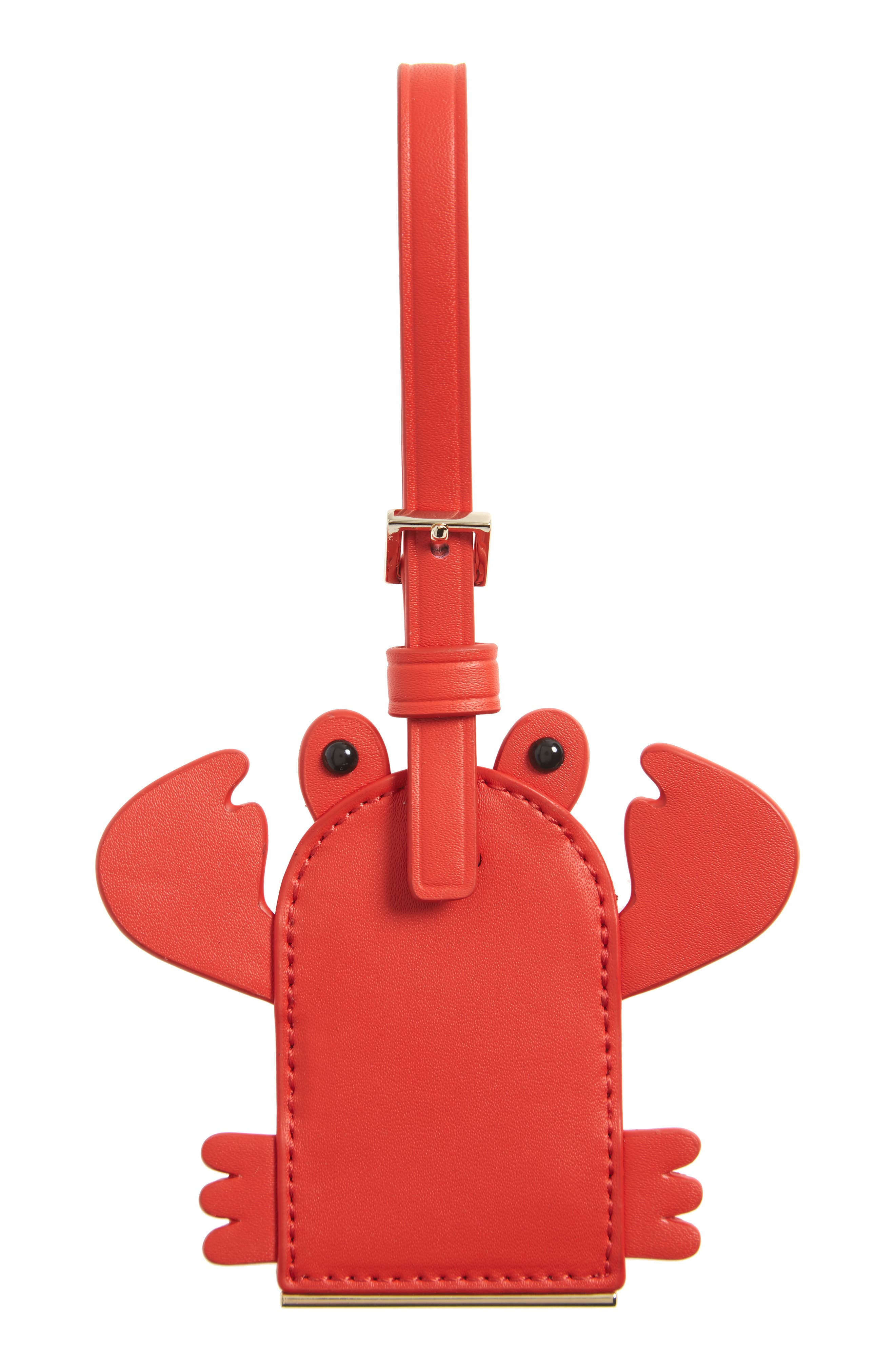 kate spade new york shore thing - crab leather luggage tag