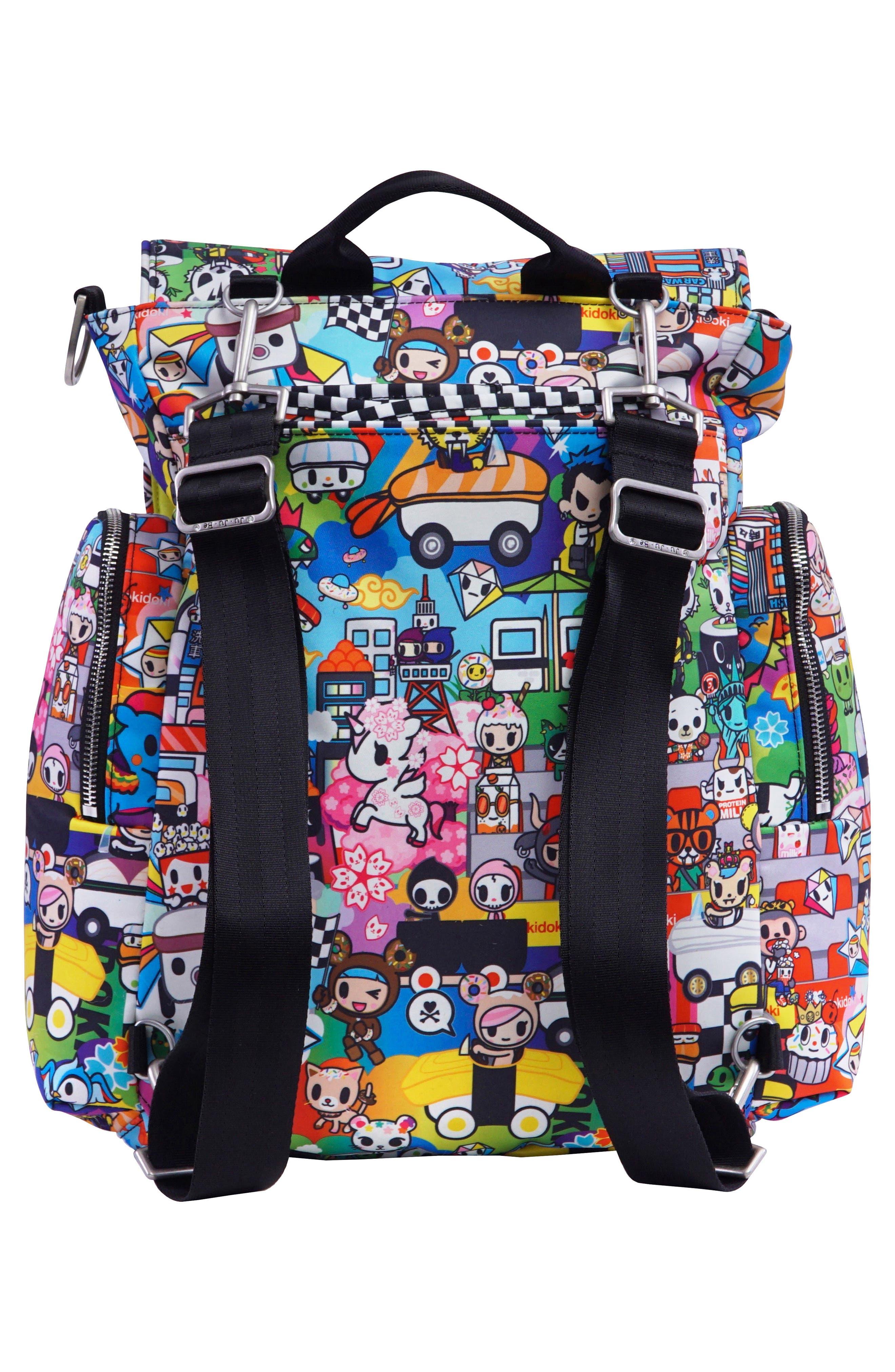 x tokidoki Be Sporty Diaper Backpack,                             Alternate thumbnail 4, color,                             Sushi Cars