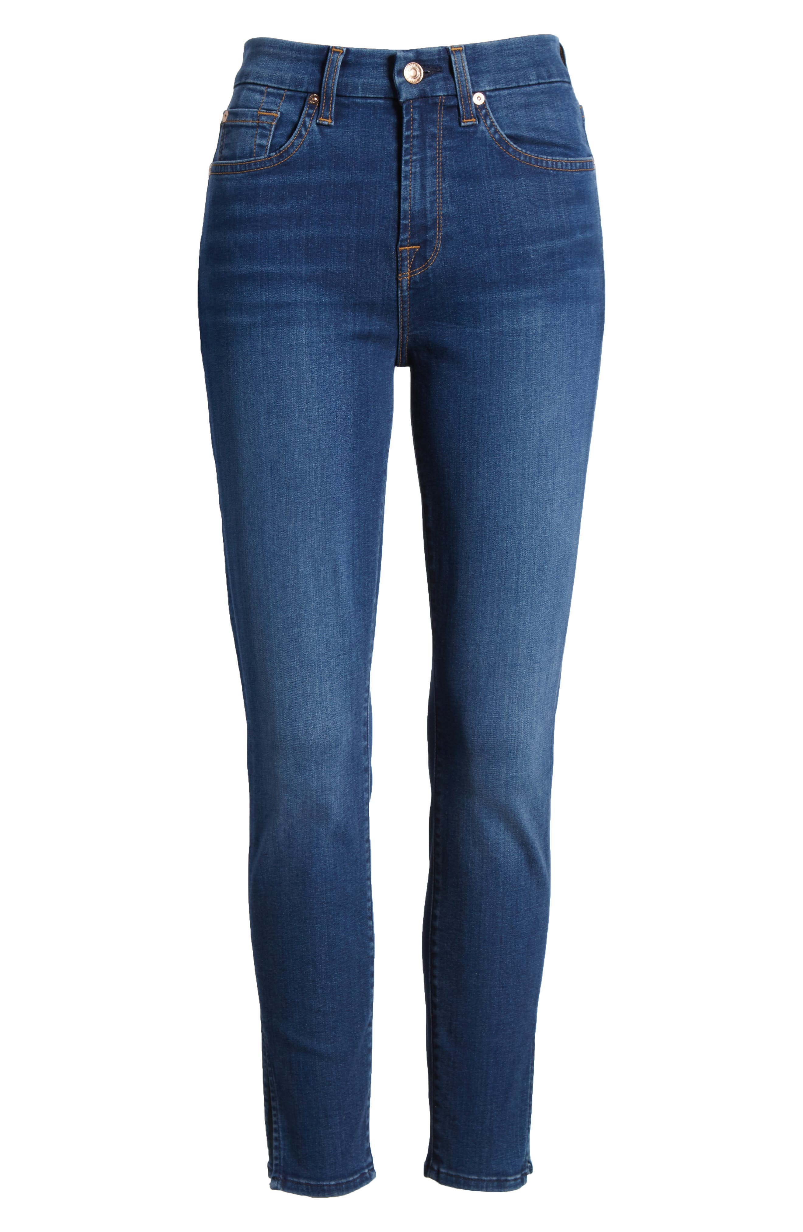 b(air) - Aubrey High Waist Skinny Jeans,                             Alternate thumbnail 7, color,                             Bair Fresh Rinse