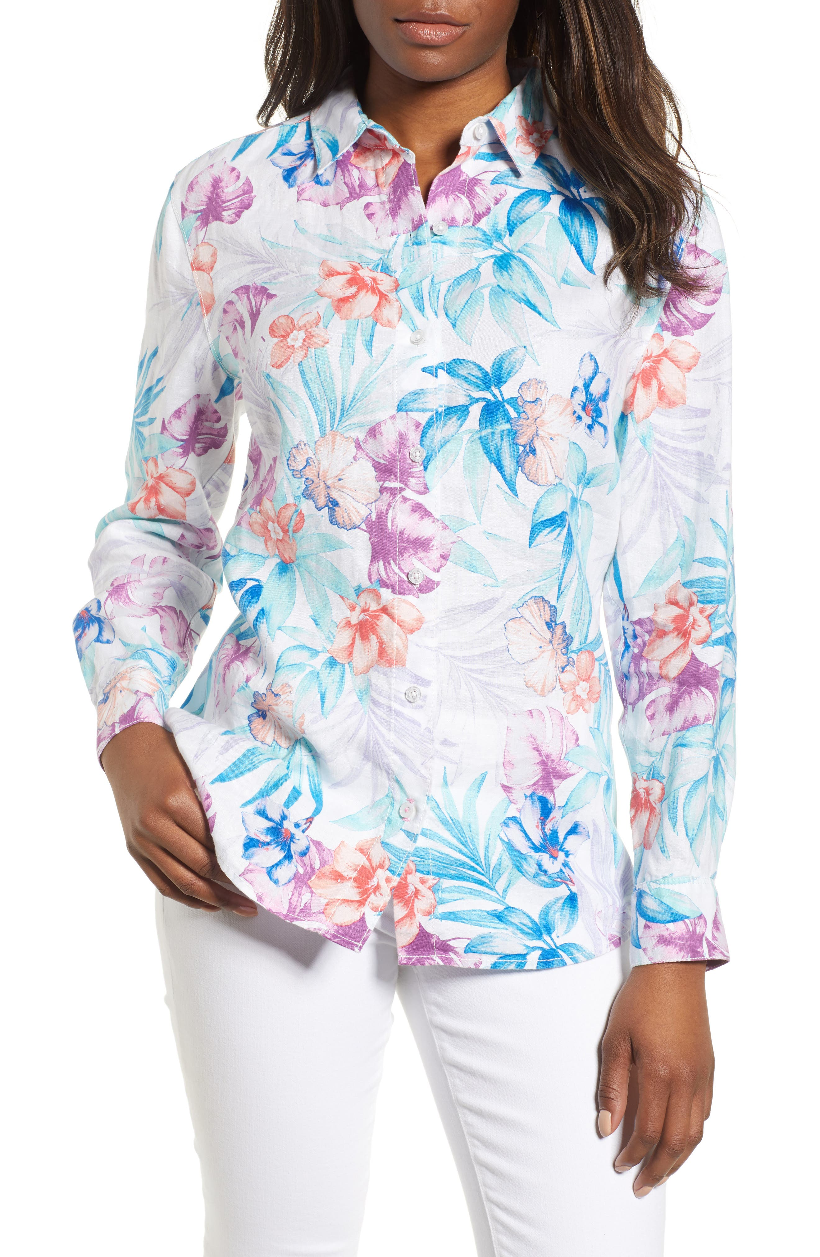 Valentina Villa Shirt,                             Main thumbnail 1, color,                             White