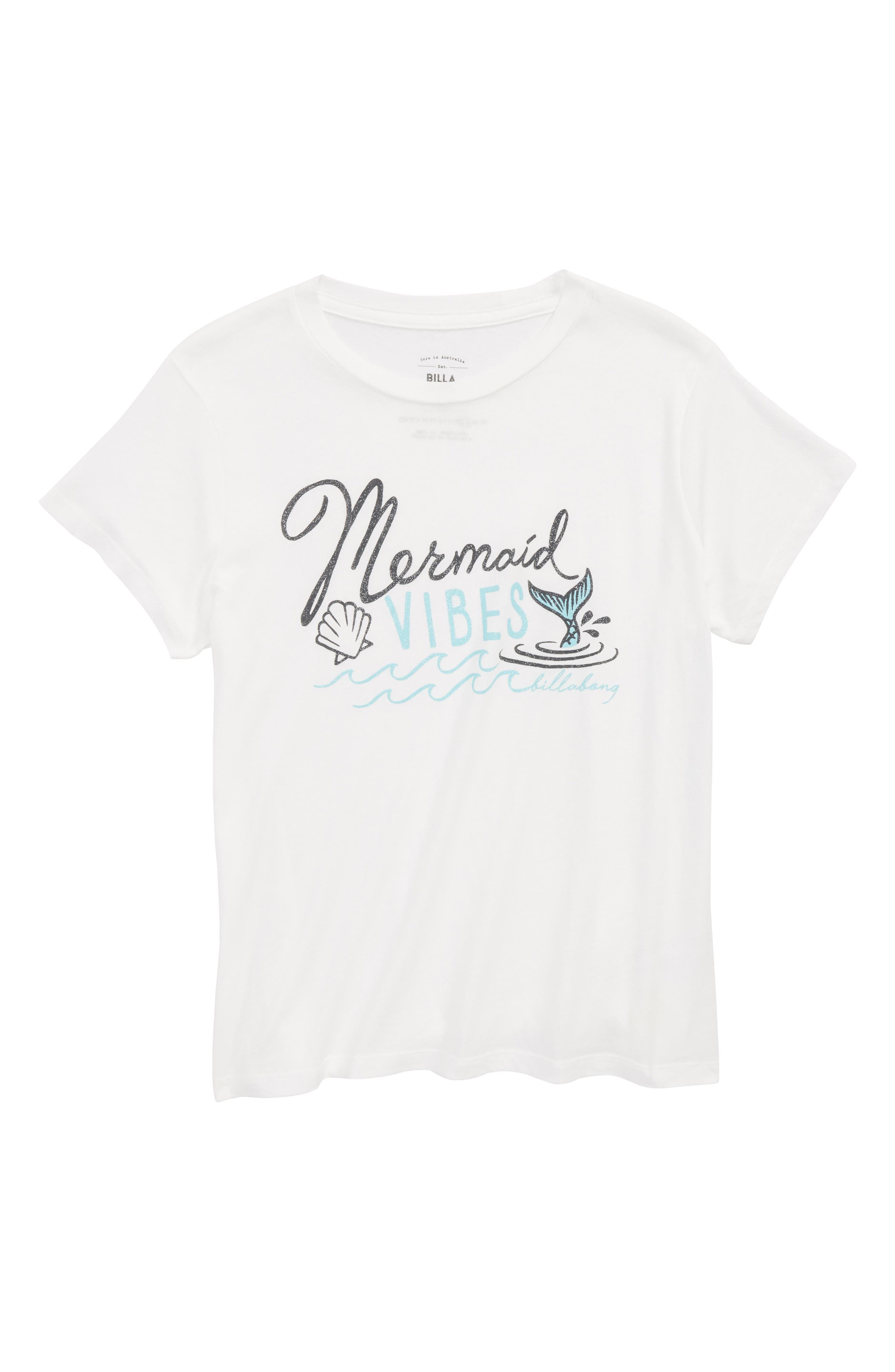 Mermaid Graphic Tee,                             Main thumbnail 1, color,                             Cool Wip