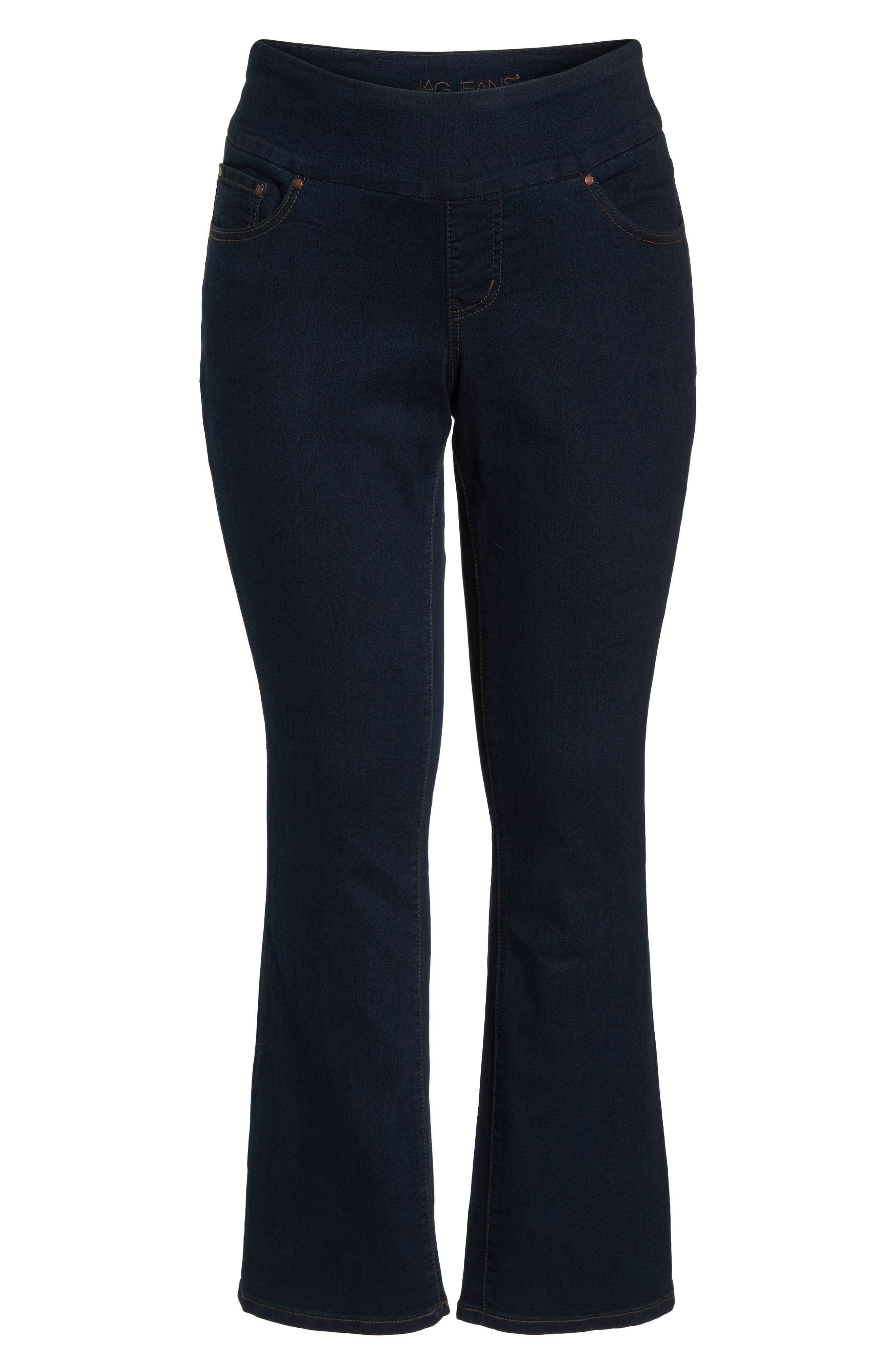Peri Stretch Straight Leg Jeans,                             Alternate thumbnail 7, color,                             Dark Indigo