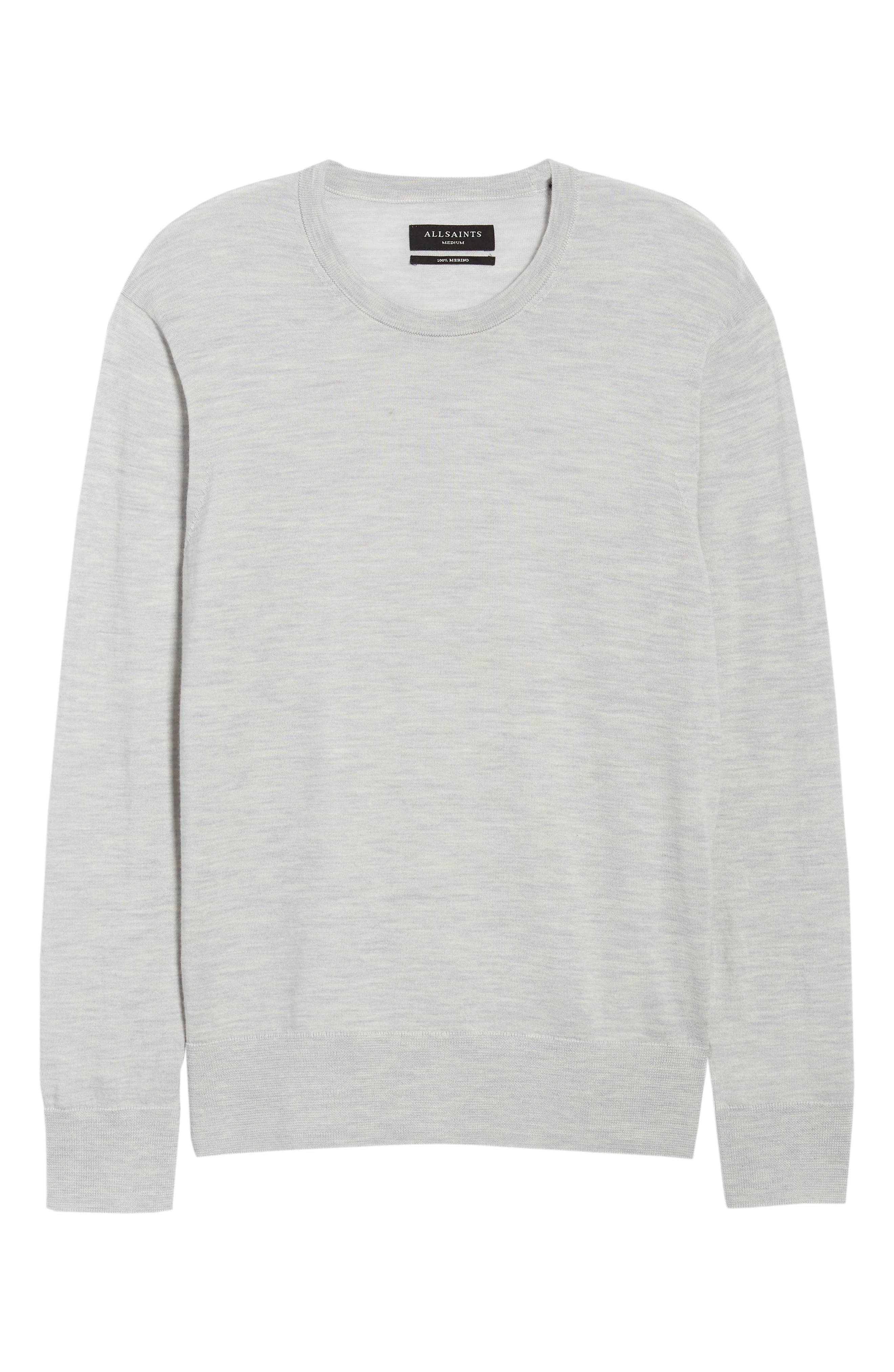 Lang Crewneck Wool Sweater,                             Alternate thumbnail 6, color,                             Light Grey Marl