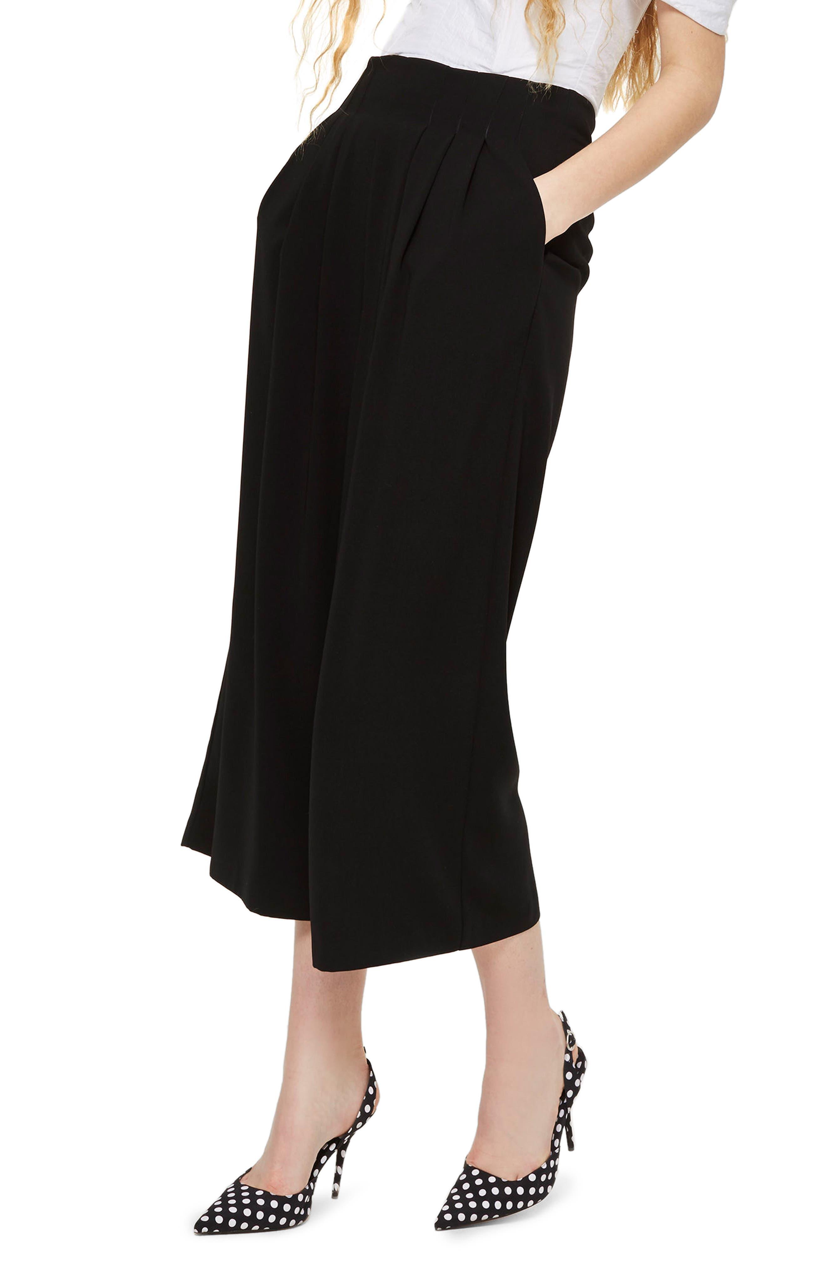 Topshop Ivy Crop Wide Leg Trousers