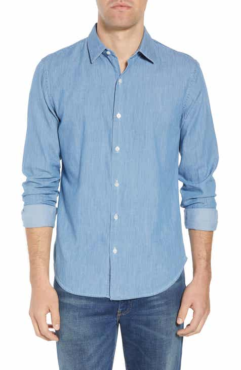 6147b59827 Bonobos Unbutton Down 2.0 Slim Fit Chambray Sport Shirt
