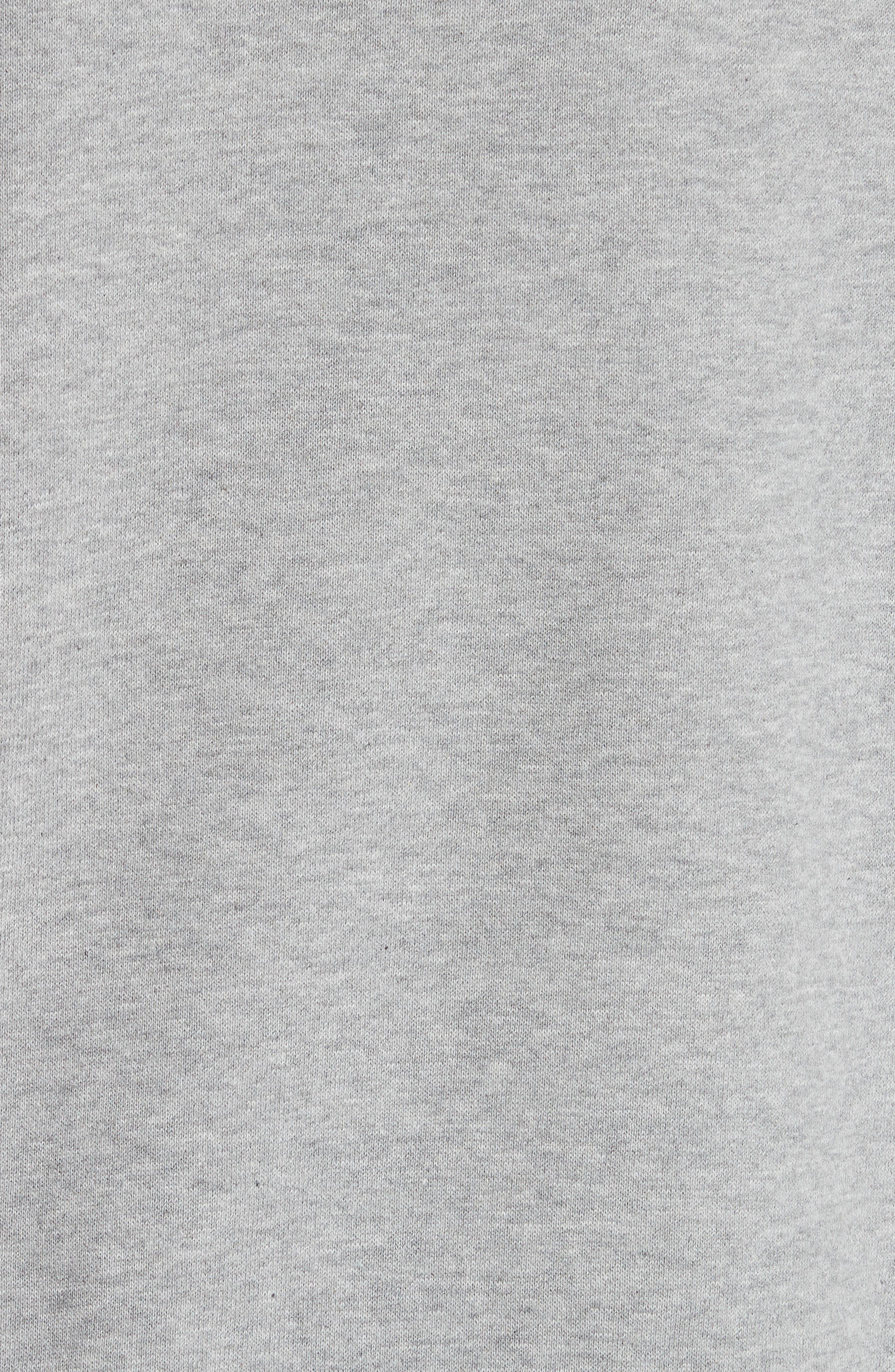 Brooke Shields Patch Sweatshirt,                             Alternate thumbnail 5, color,                             Grey