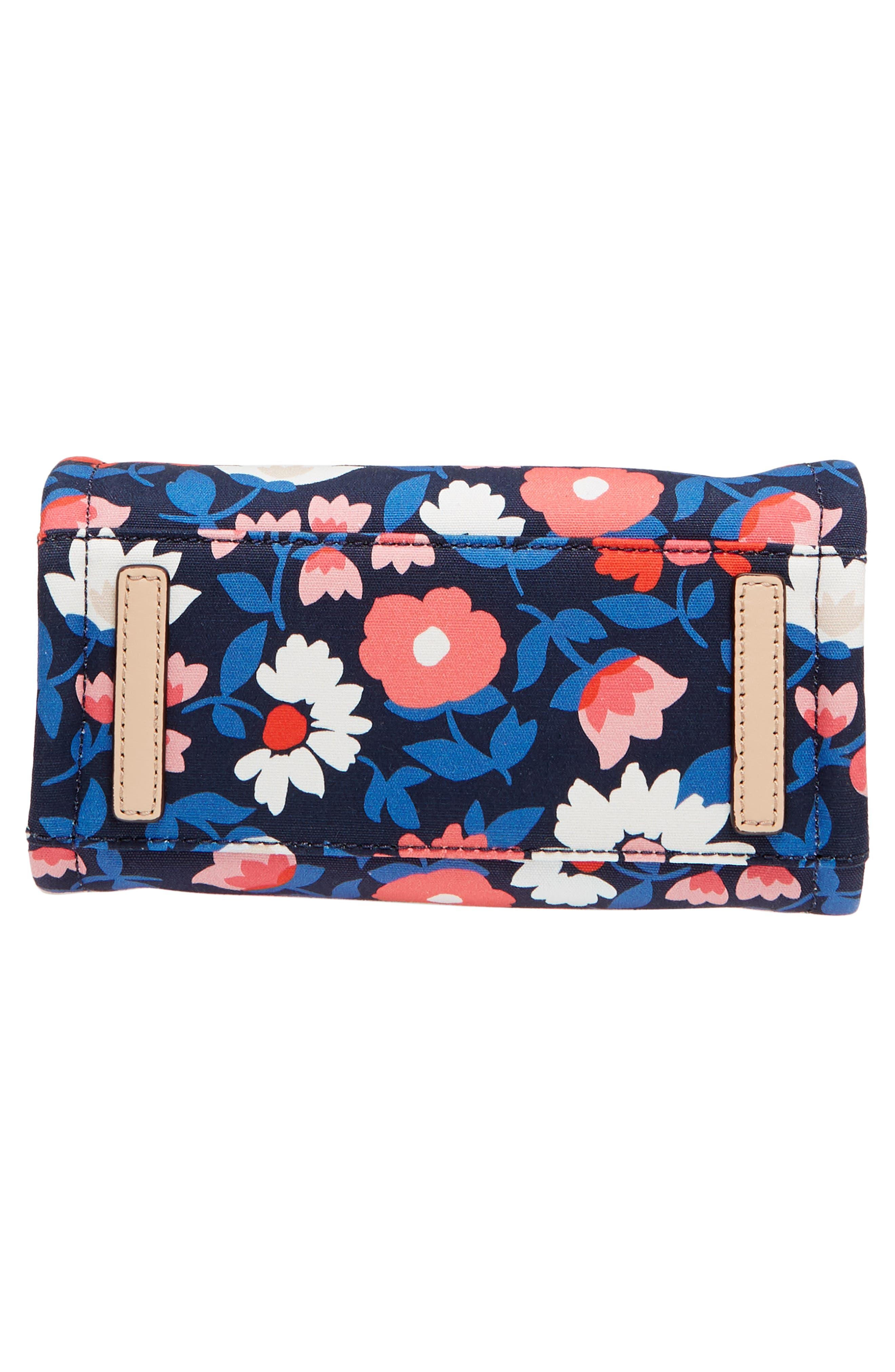 washington square - small sam canvas satchel,                             Alternate thumbnail 7, color,                             Rich Navy Multi