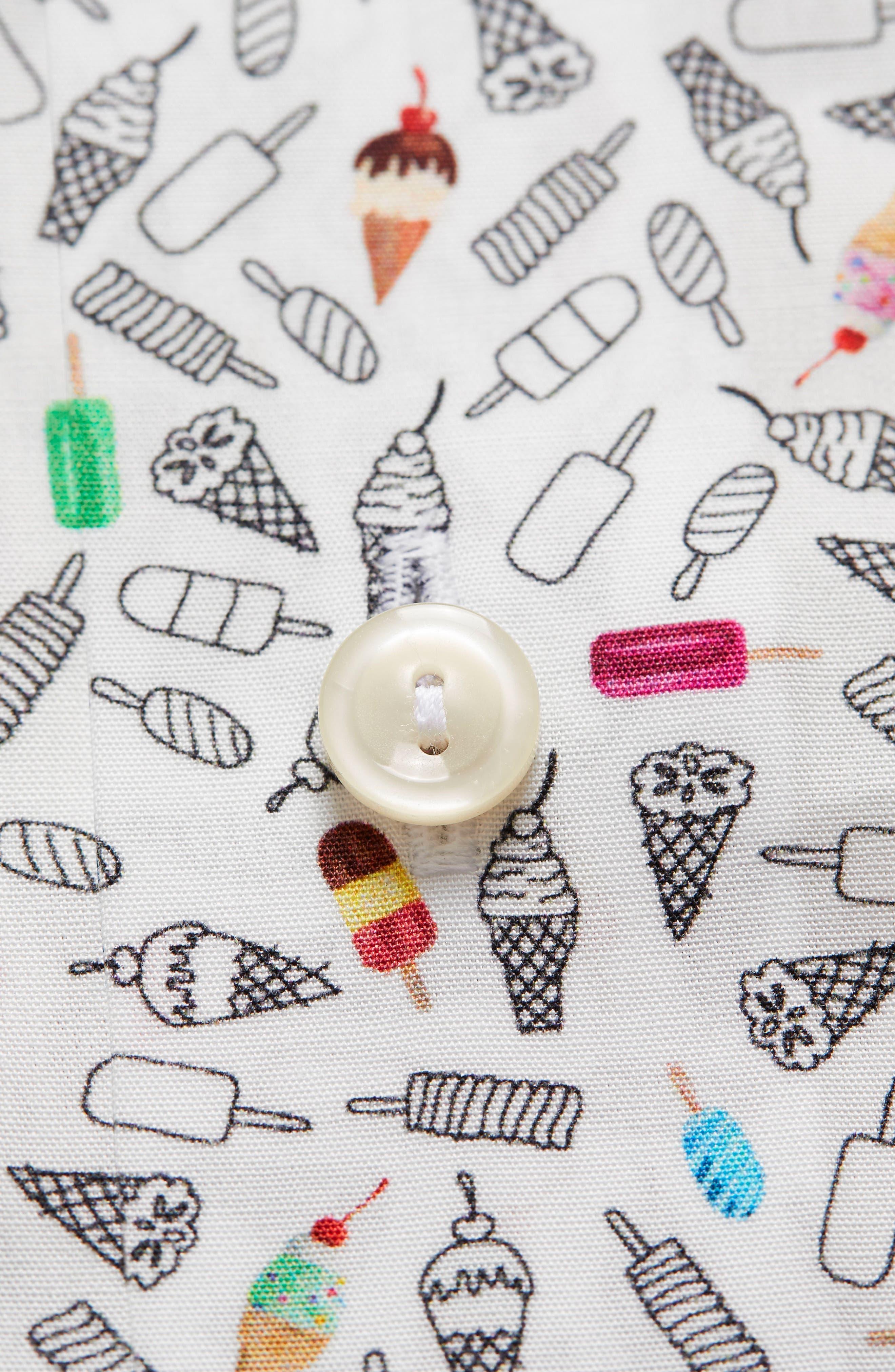 Contemporary Fit Print Dress Shirt,                             Alternate thumbnail 6, color,                             White