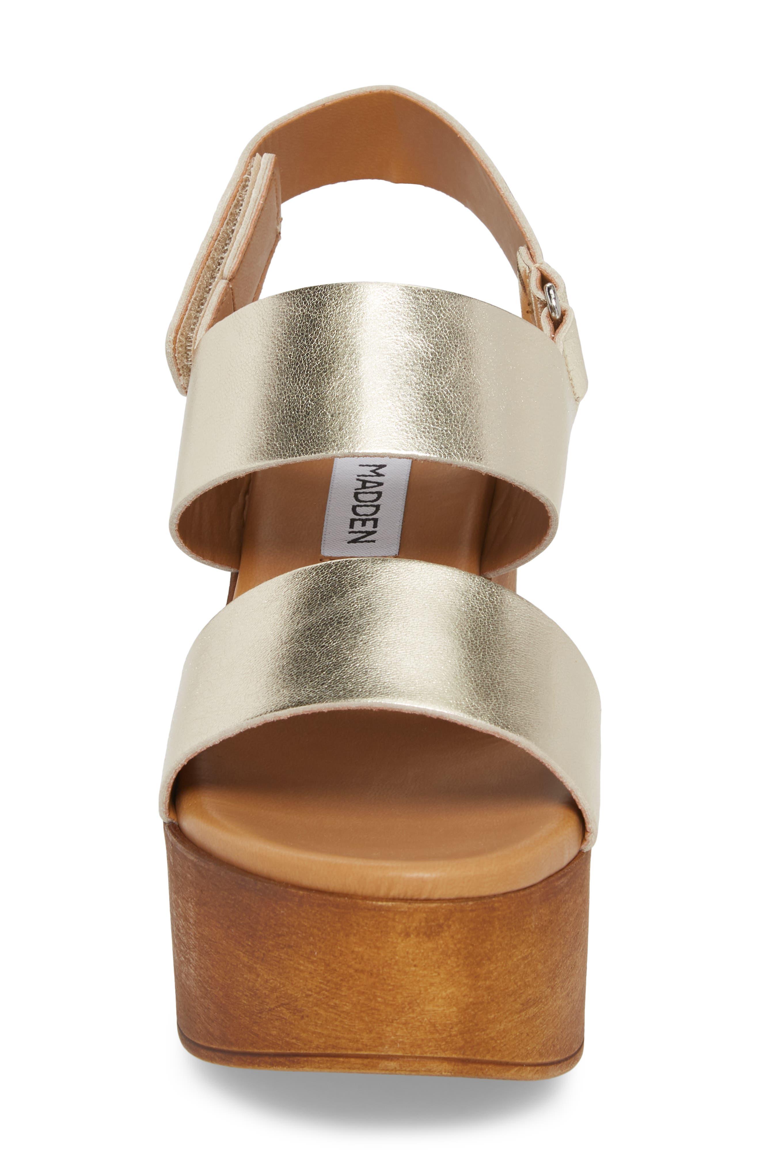 Marena Slingback Platform Sandal,                             Alternate thumbnail 4, color,                             Champagne