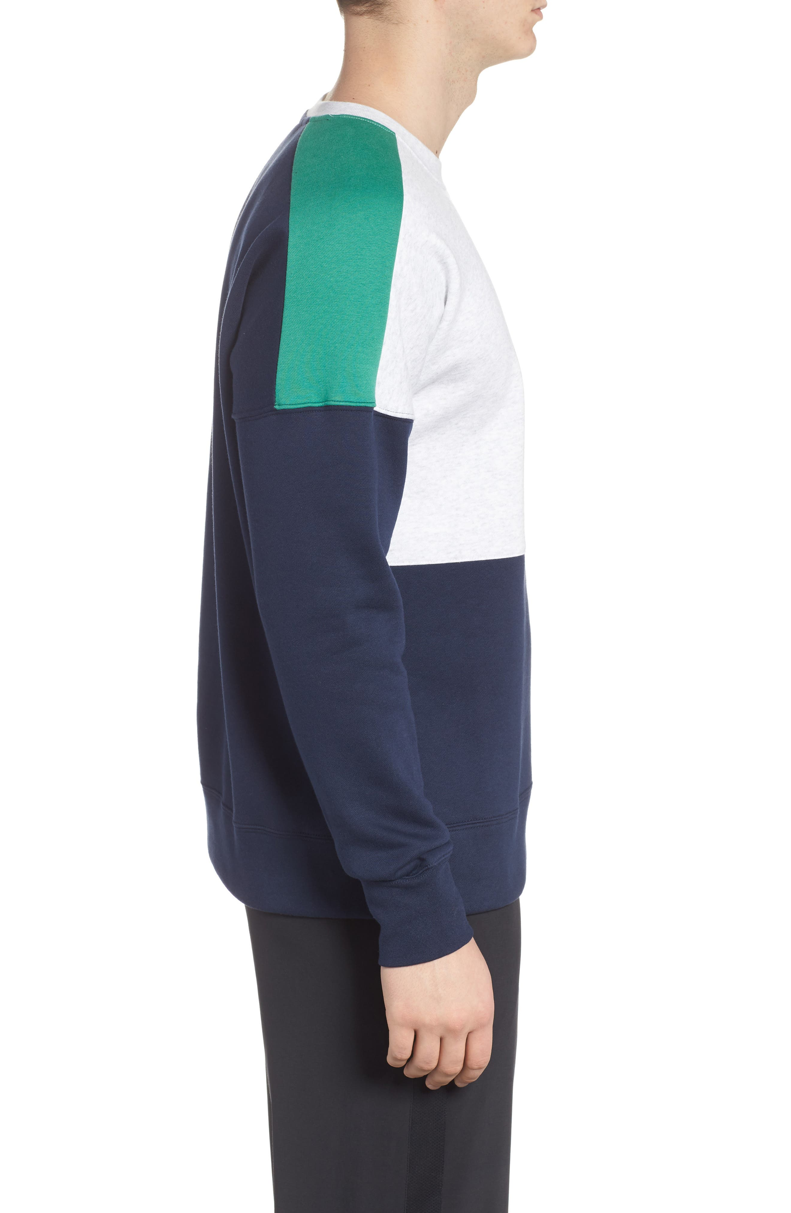 NSW Air Crewneck Sweatshirt,                             Alternate thumbnail 3, color,                             Birch/ Green/ Obsidian/ White