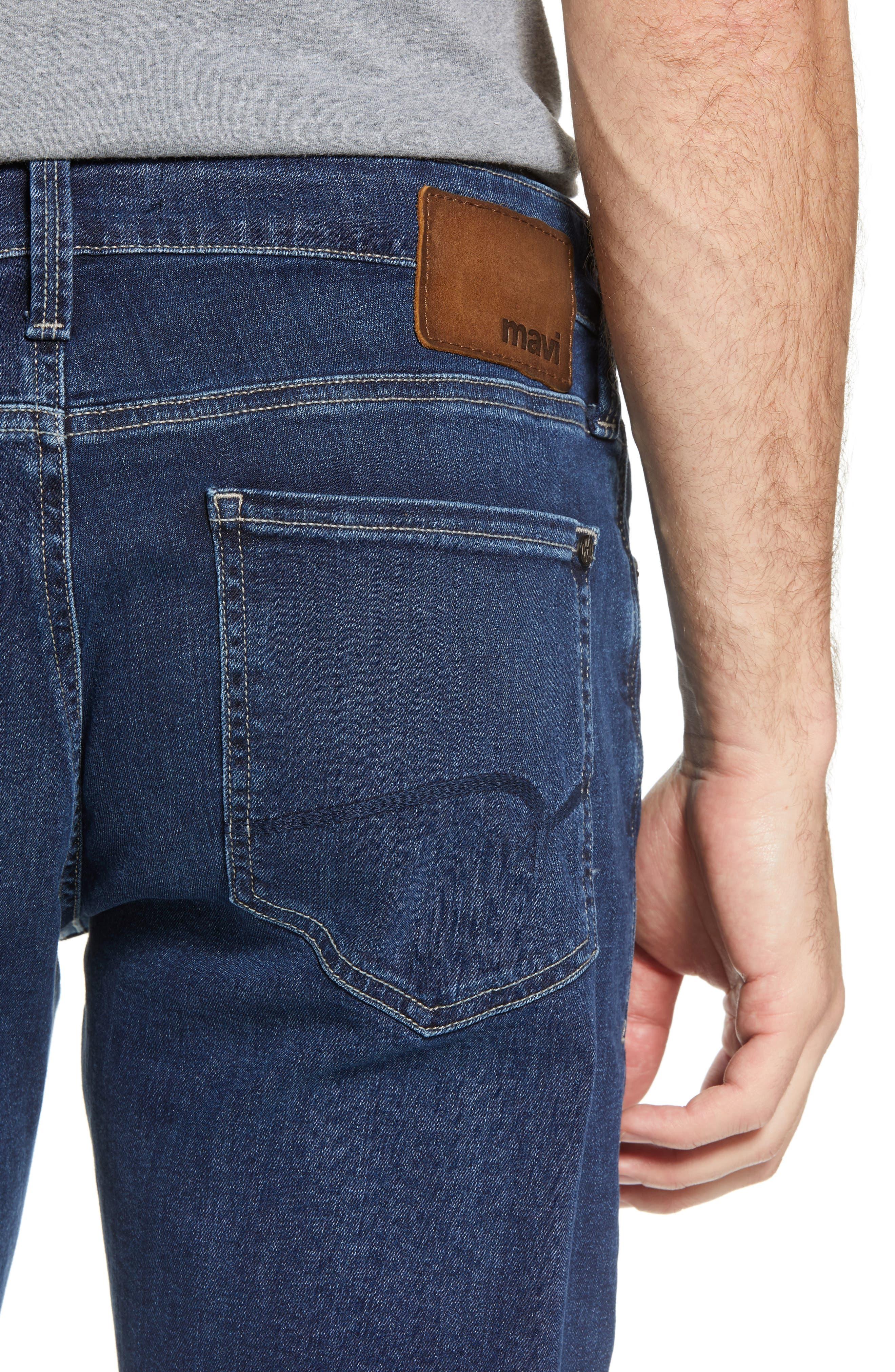 Zach Straight Leg Jeans,                             Alternate thumbnail 4, color,                             Dark Blue Williamsburg