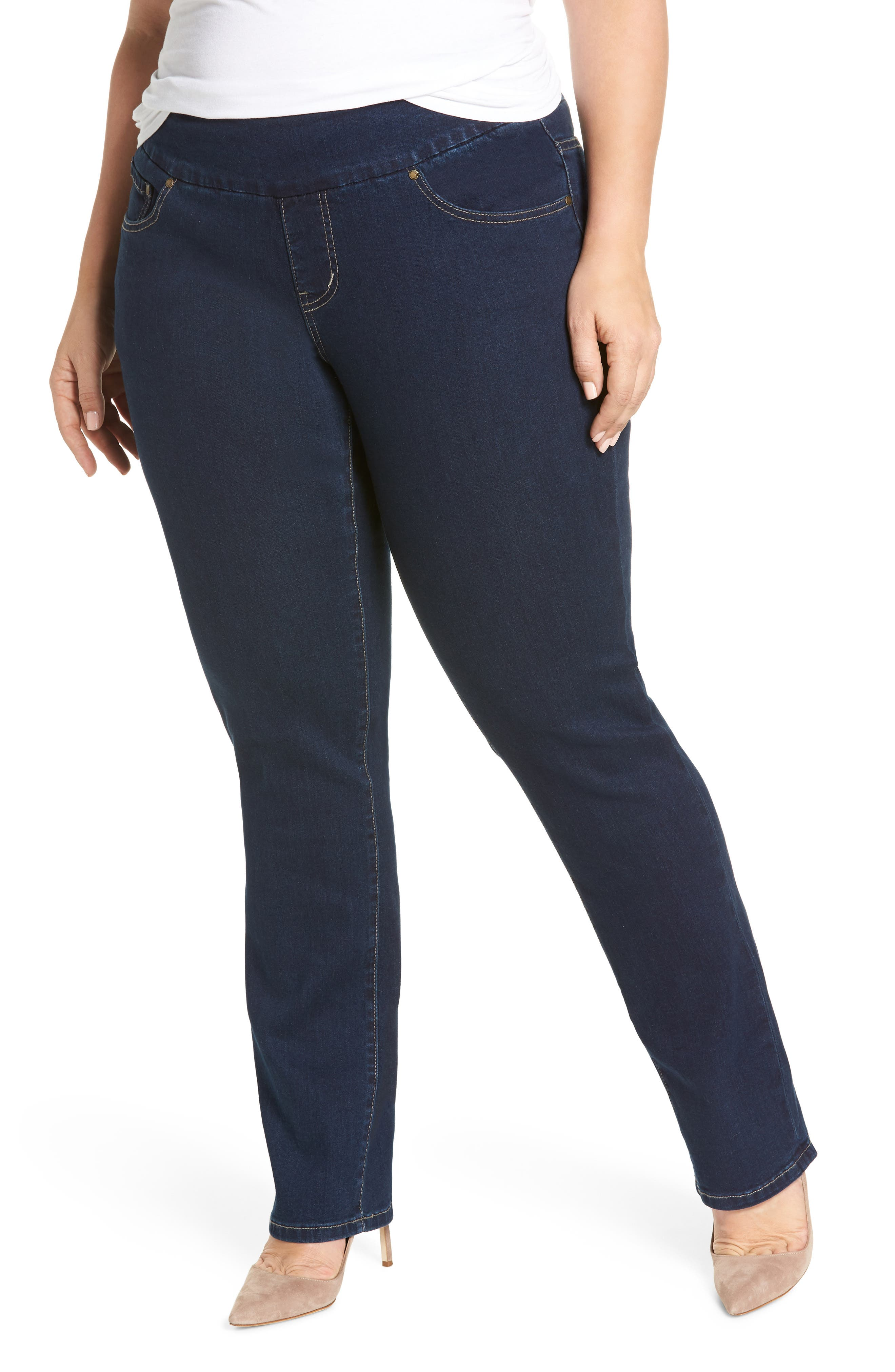 Paley Pull-On Bootcut Jeans,                             Main thumbnail 1, color,                             Med Indigo