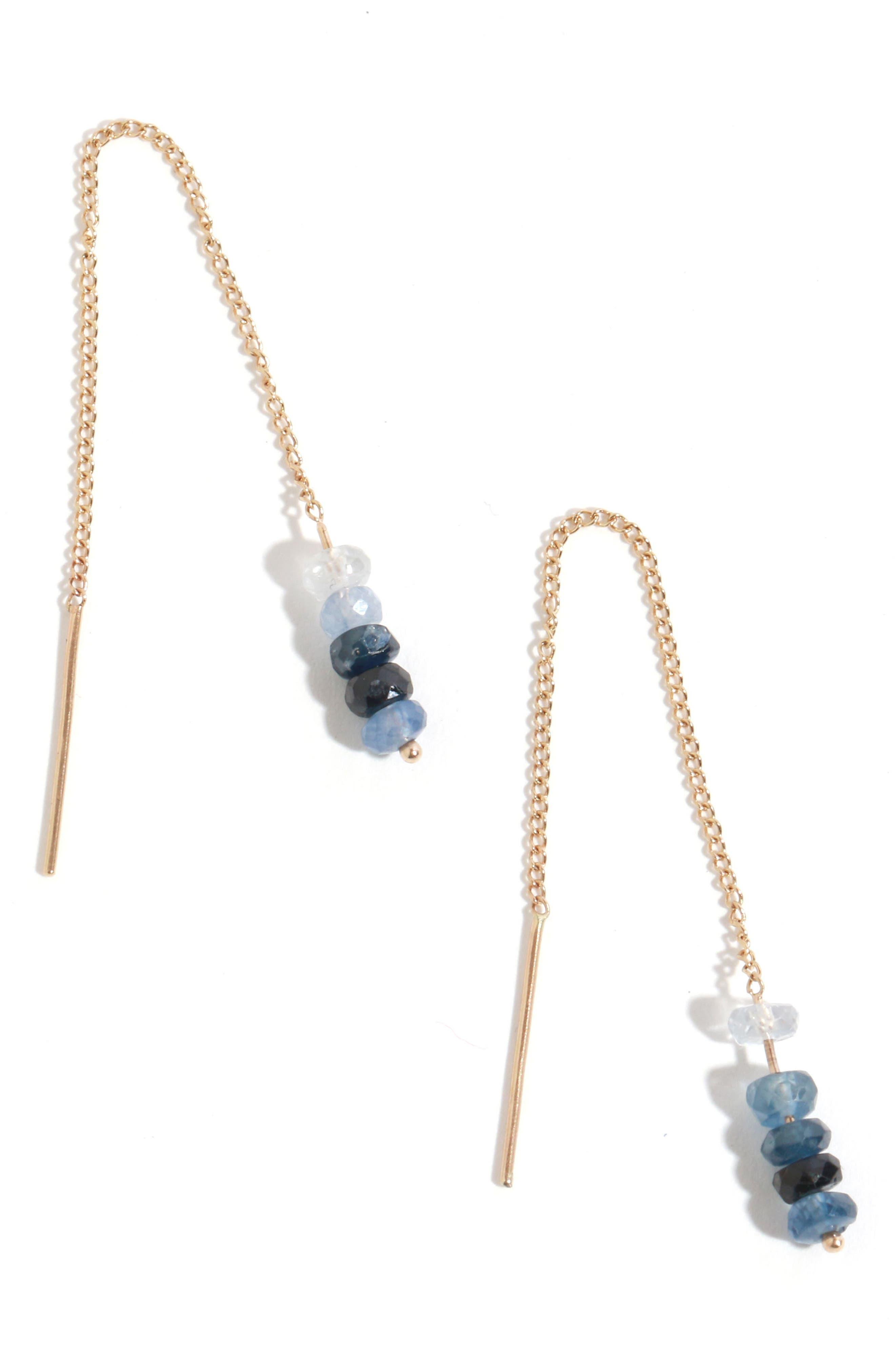 Melissa Joy Manning Sapphire Chain Threader Earrings