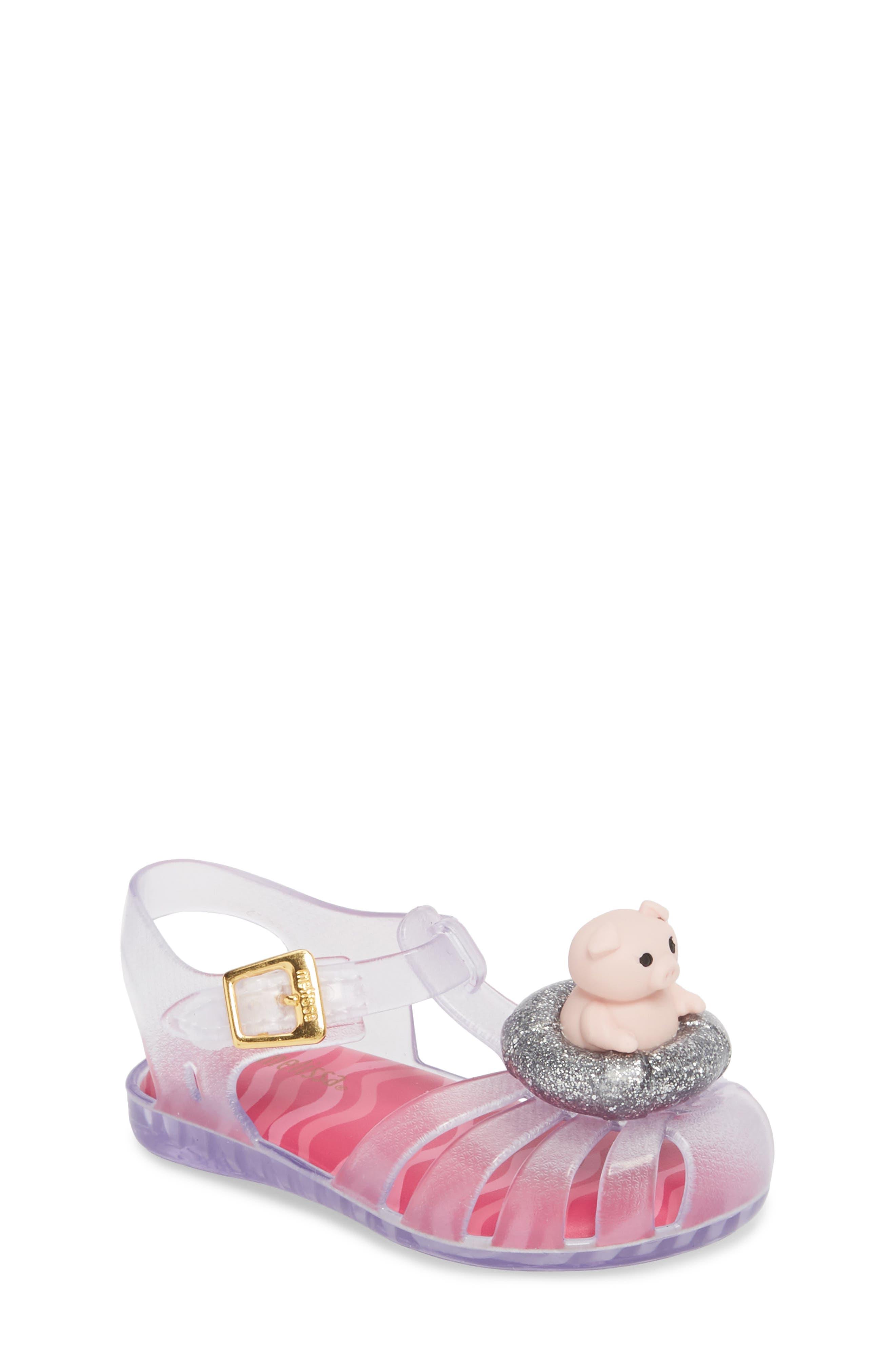 Alternate Image 1 Selected - Mini Melissa Aranha XI Jelly Sandal (Walker & Toddler)