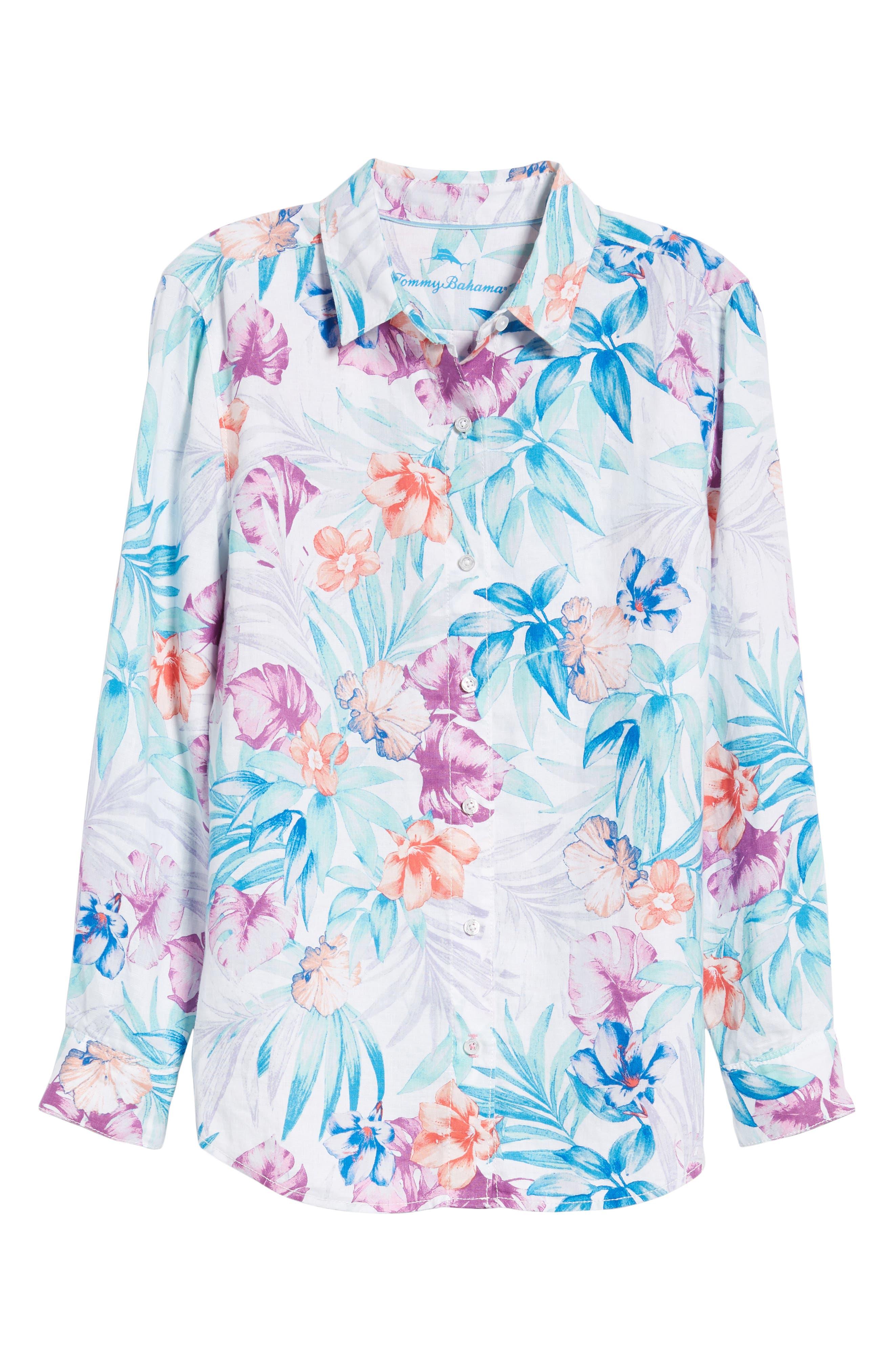 Valentina Villa Shirt,                             Alternate thumbnail 7, color,                             White