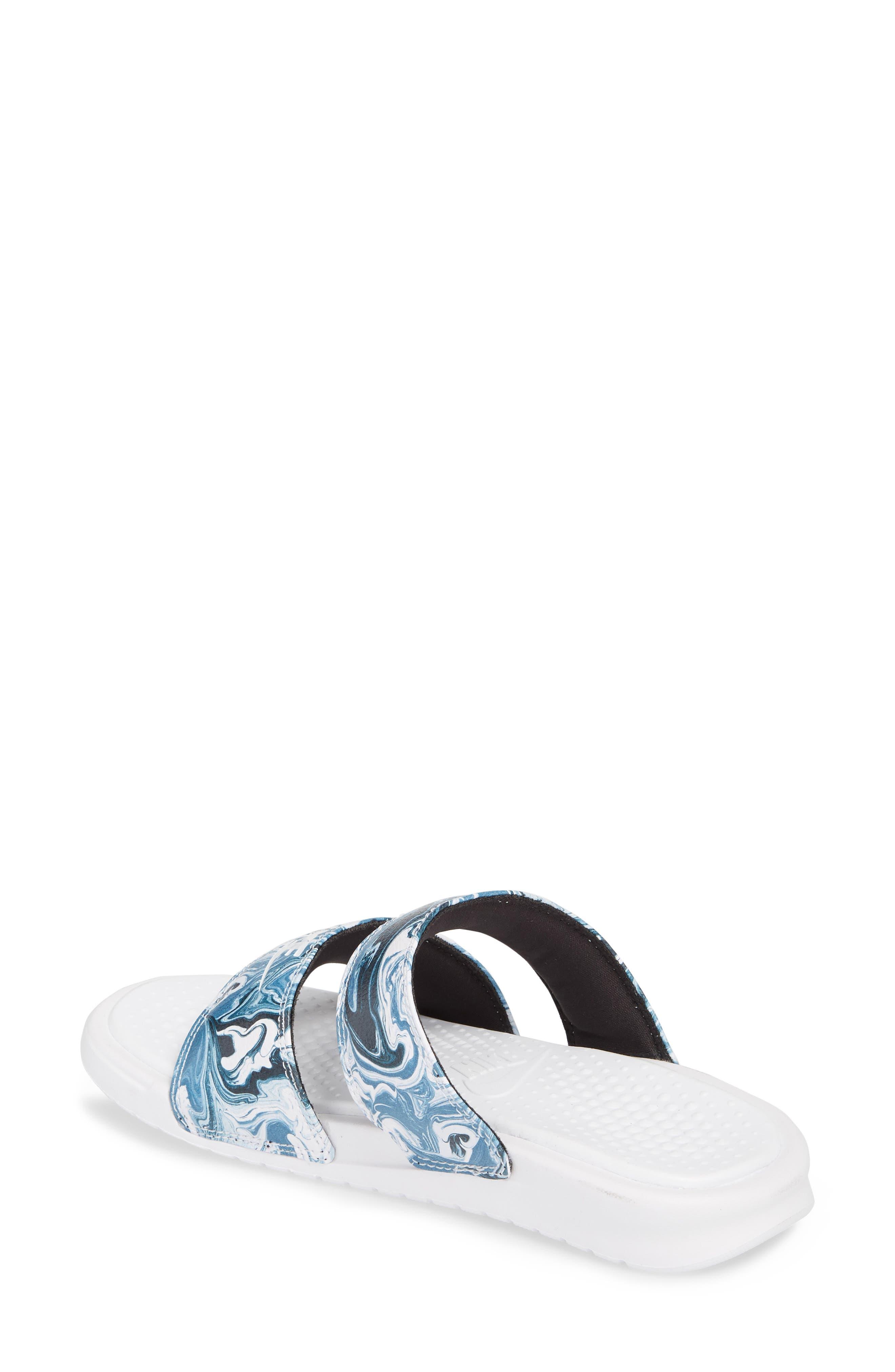 Benassi Duo Ultra Slide Sandal,                             Alternate thumbnail 2, color,                             Black/ White