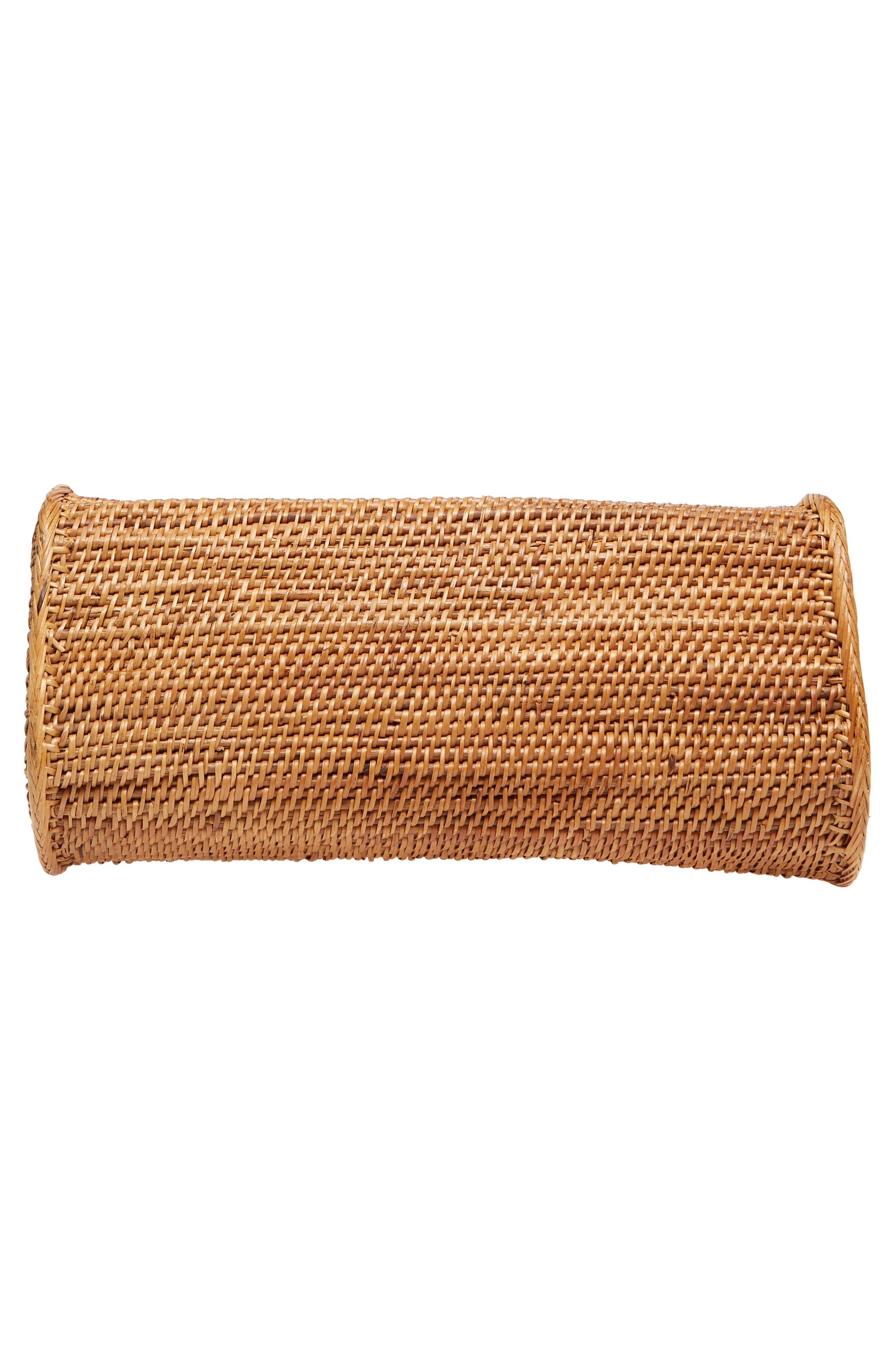 Woven Rattan Handbag,                             Alternate thumbnail 6, color,                             Tan