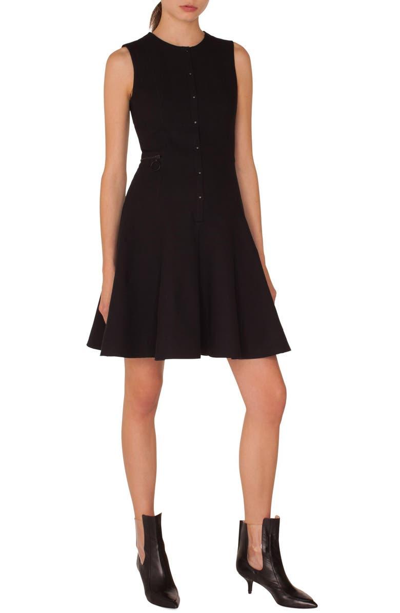 Piqu? Jersey A-Line Dress