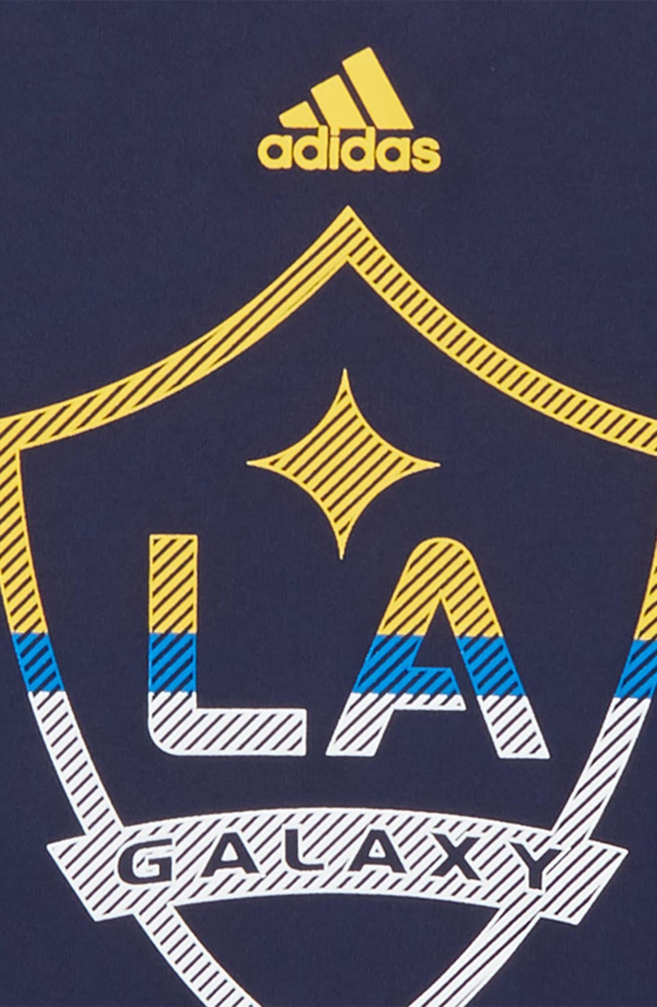 MLS LA Galaxy Climalite<sup>®</sup> T-Shirt,                             Alternate thumbnail 2, color,                             Dark Navy