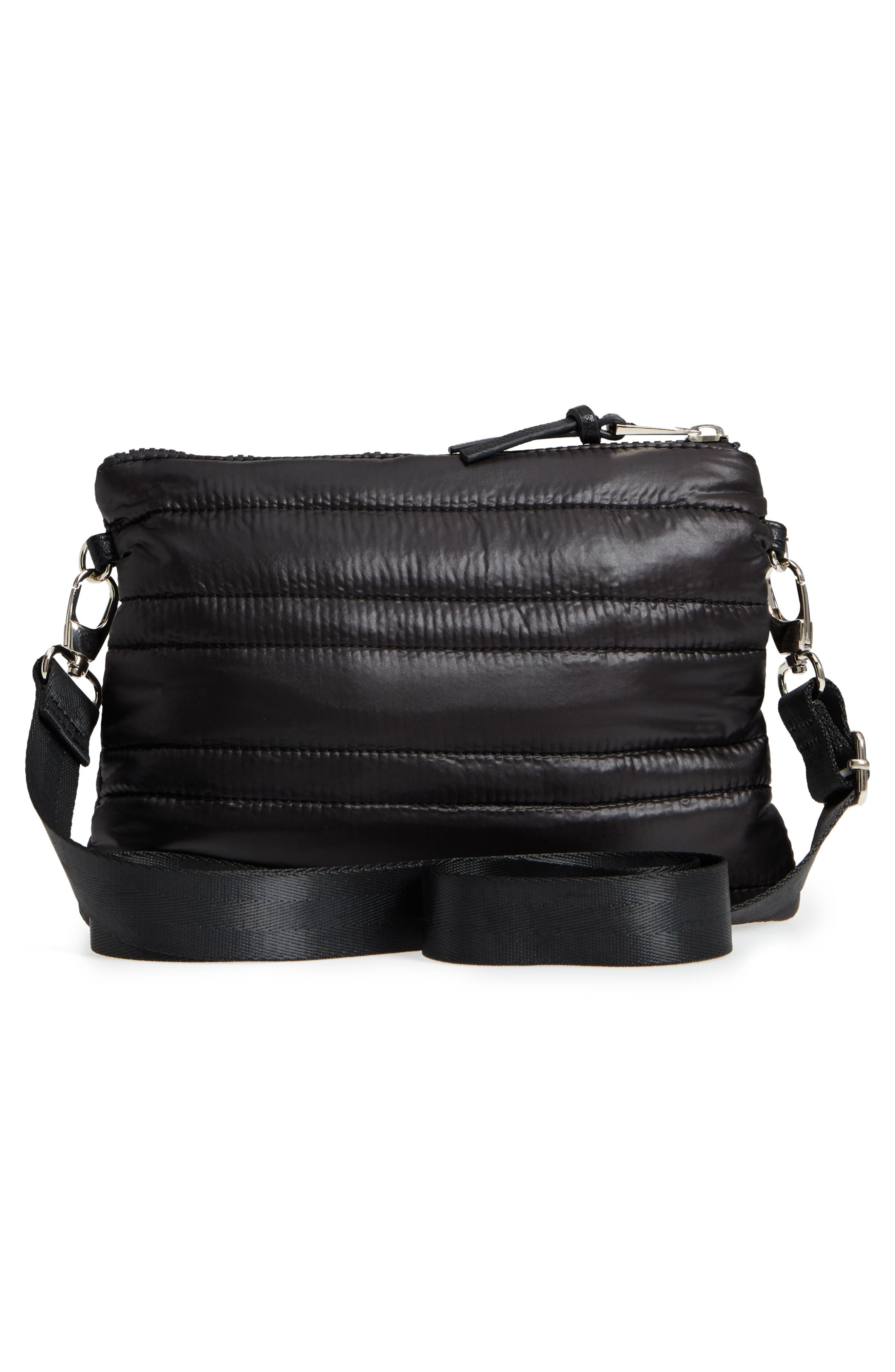 Quilted Crossbody Bag,                             Alternate thumbnail 4, color,                             Black
