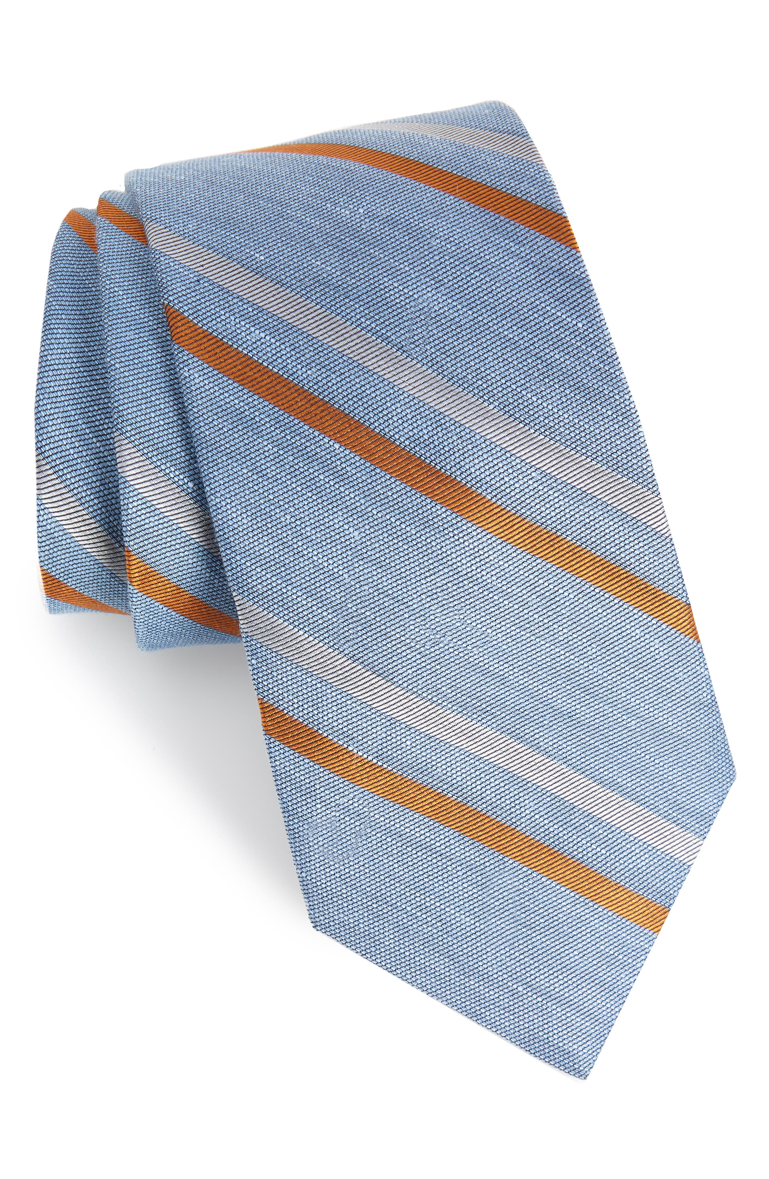 Pep Stripe Tie,                         Main,                         color, Light Blue
