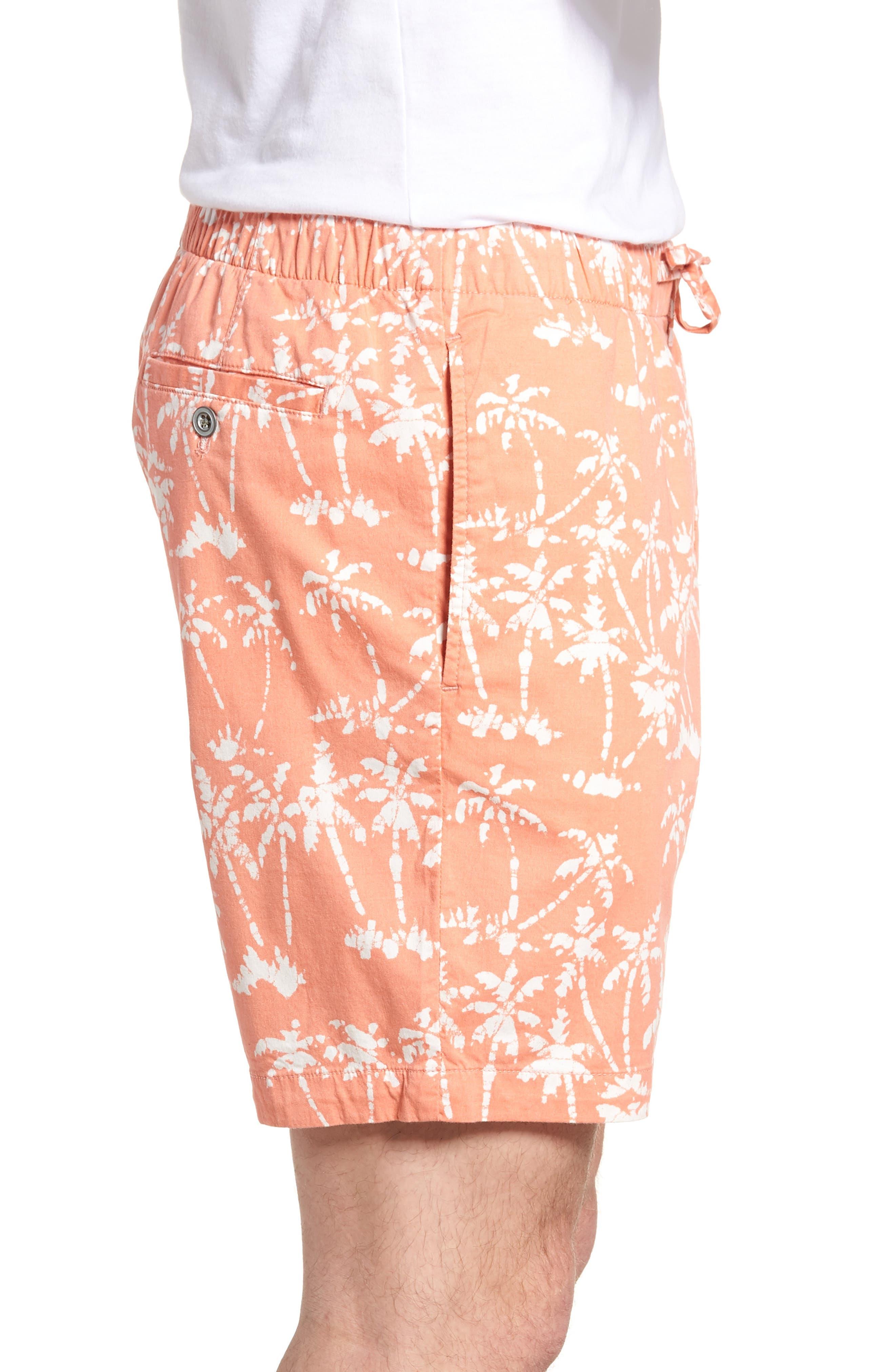 Print Beach Shorts,                             Alternate thumbnail 3, color,                             Batik Palms Himalayan Salt