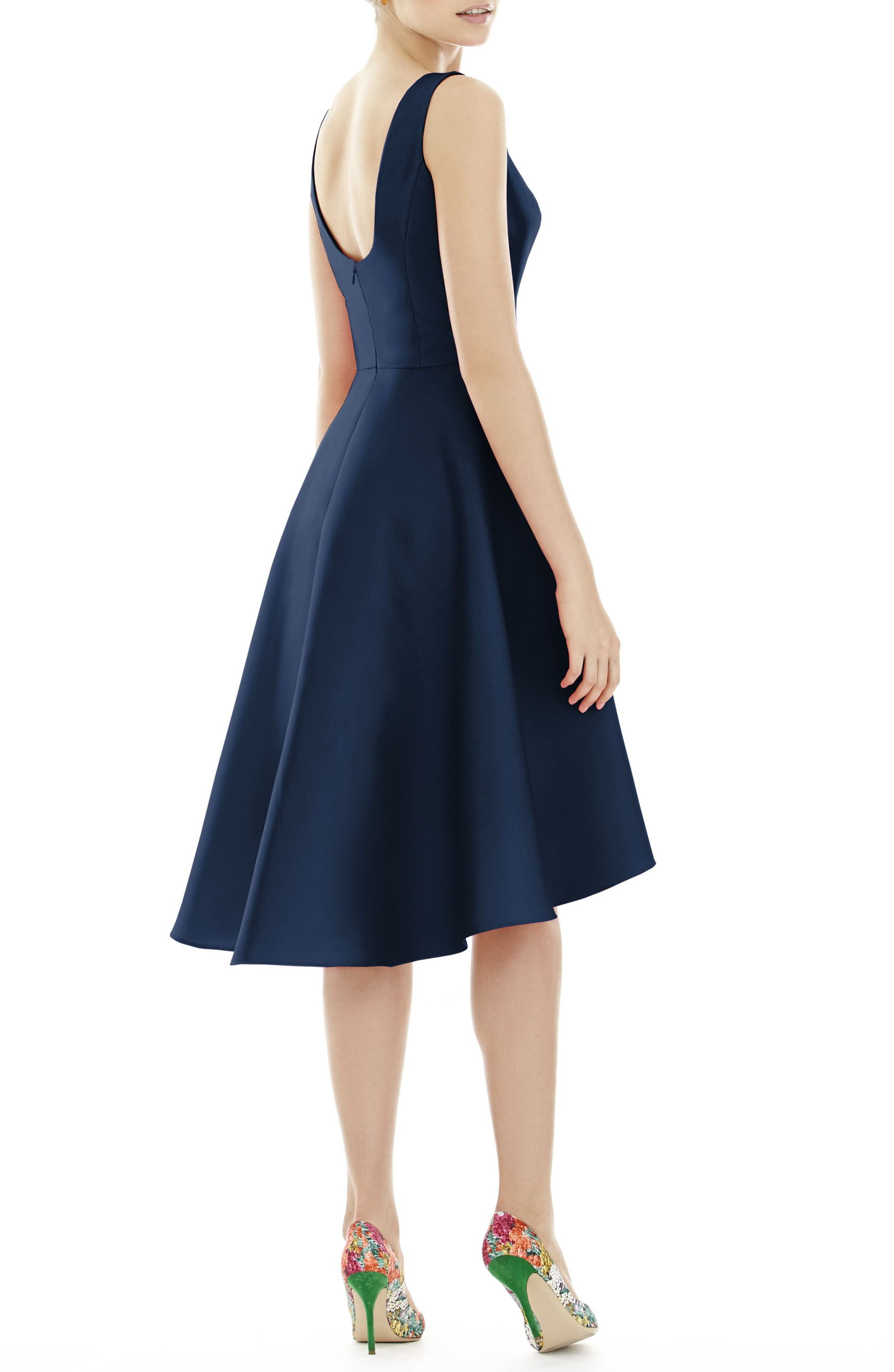 High/Low Cocktail Dress,                             Alternate thumbnail 2, color,                             Midnight