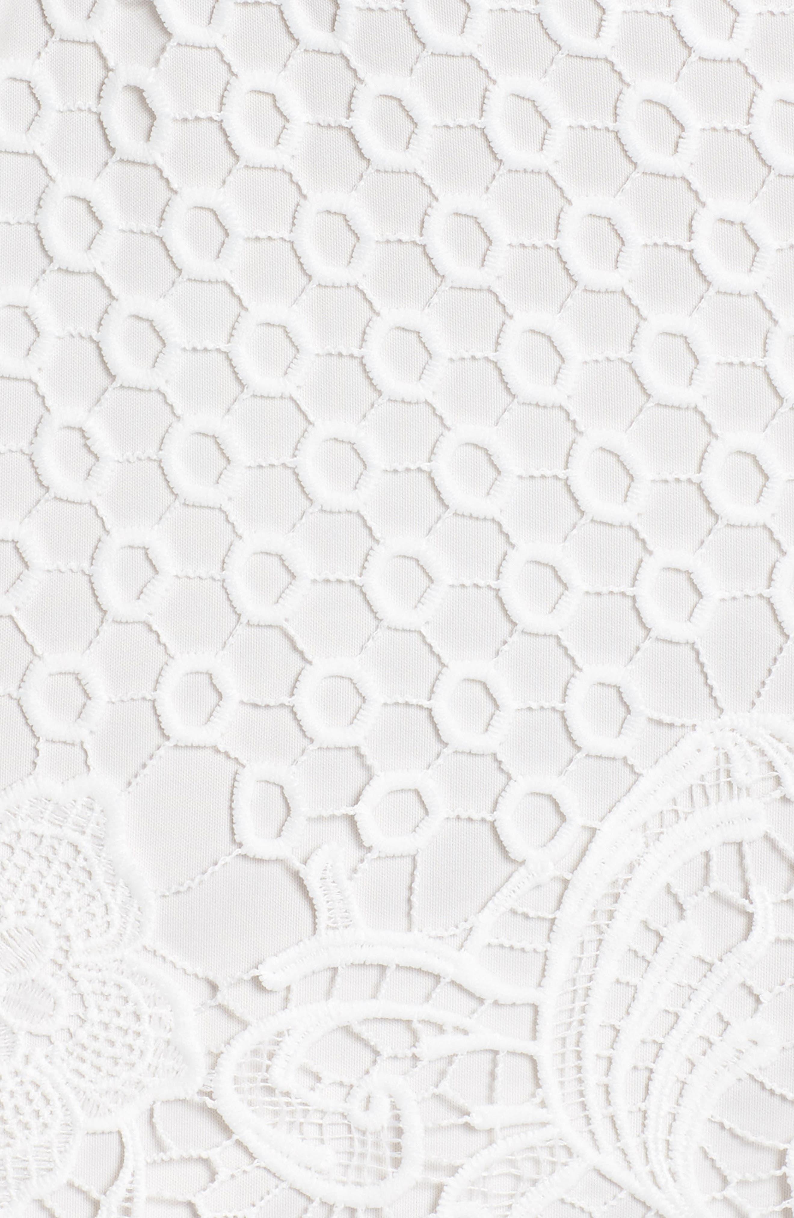 Bryn Lace Halter Dress,                             Alternate thumbnail 6, color,                             White