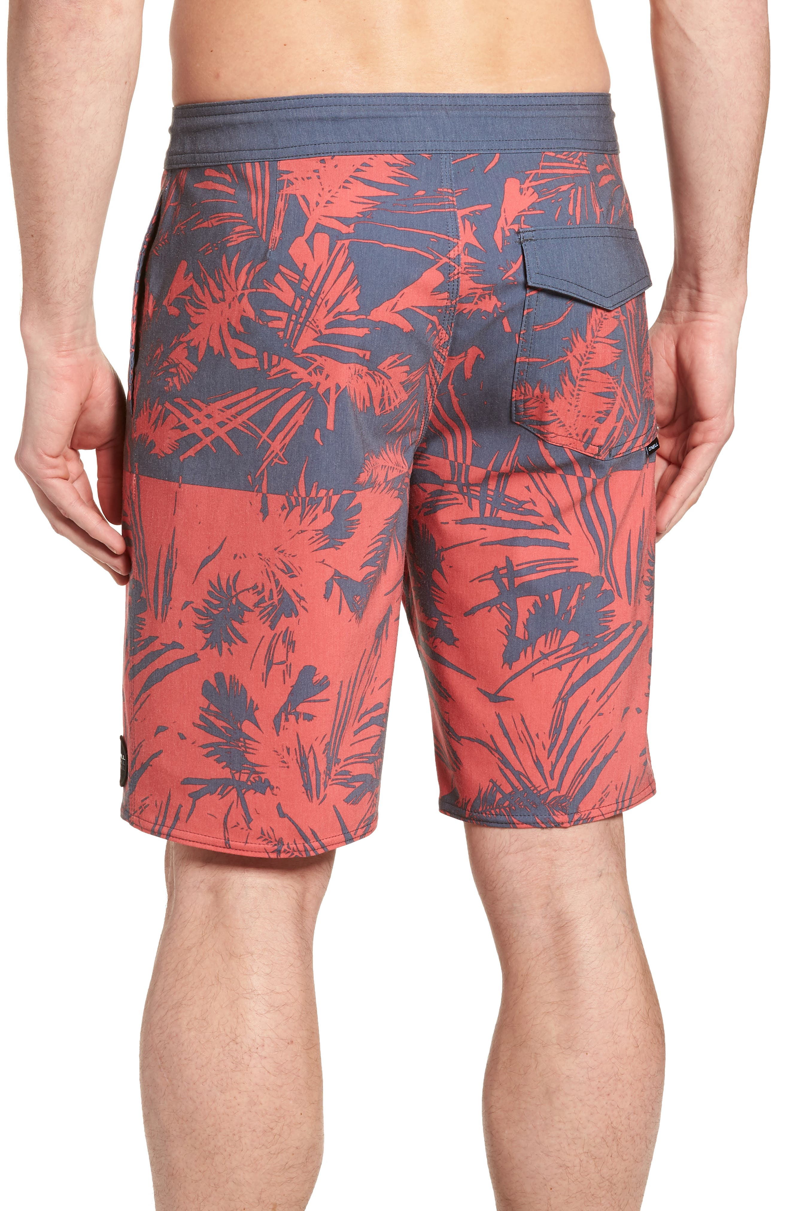 Inverted Cruzer Board Shorts,                             Alternate thumbnail 2, color,                             Faded Red