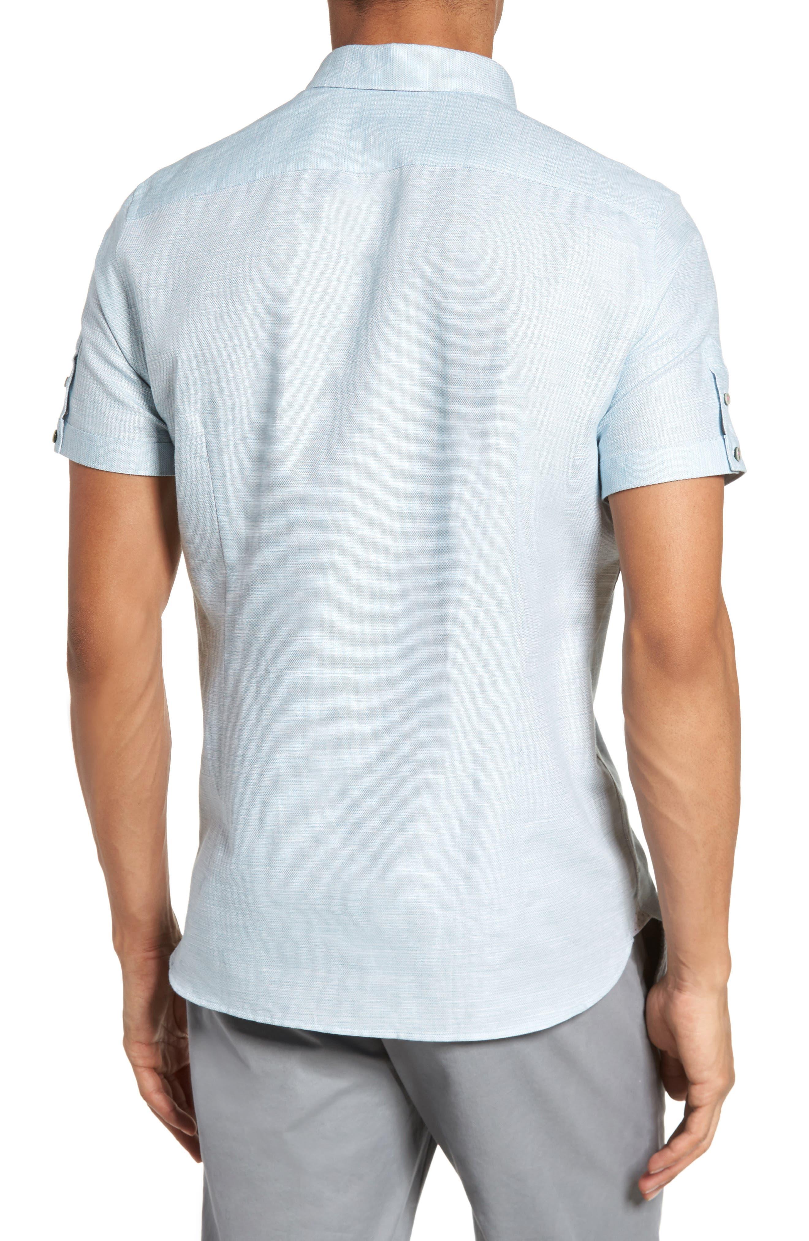 Peezett Short Sleeve Sport Shirt,                             Alternate thumbnail 2, color,                             Green