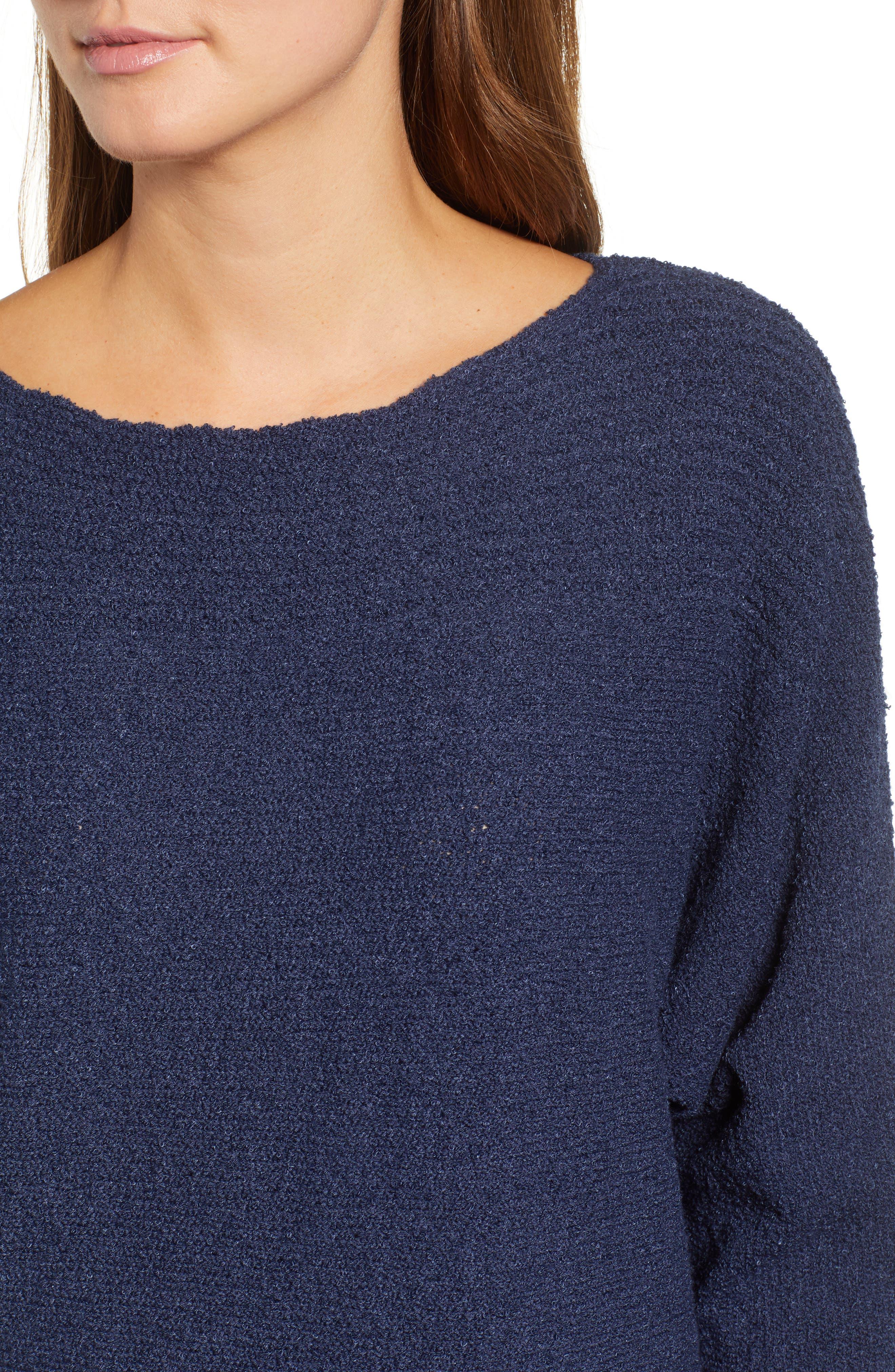 Calson<sup>®</sup> Dolman Sleeve Sweater,                             Alternate thumbnail 4, color,                             Navy Indigo