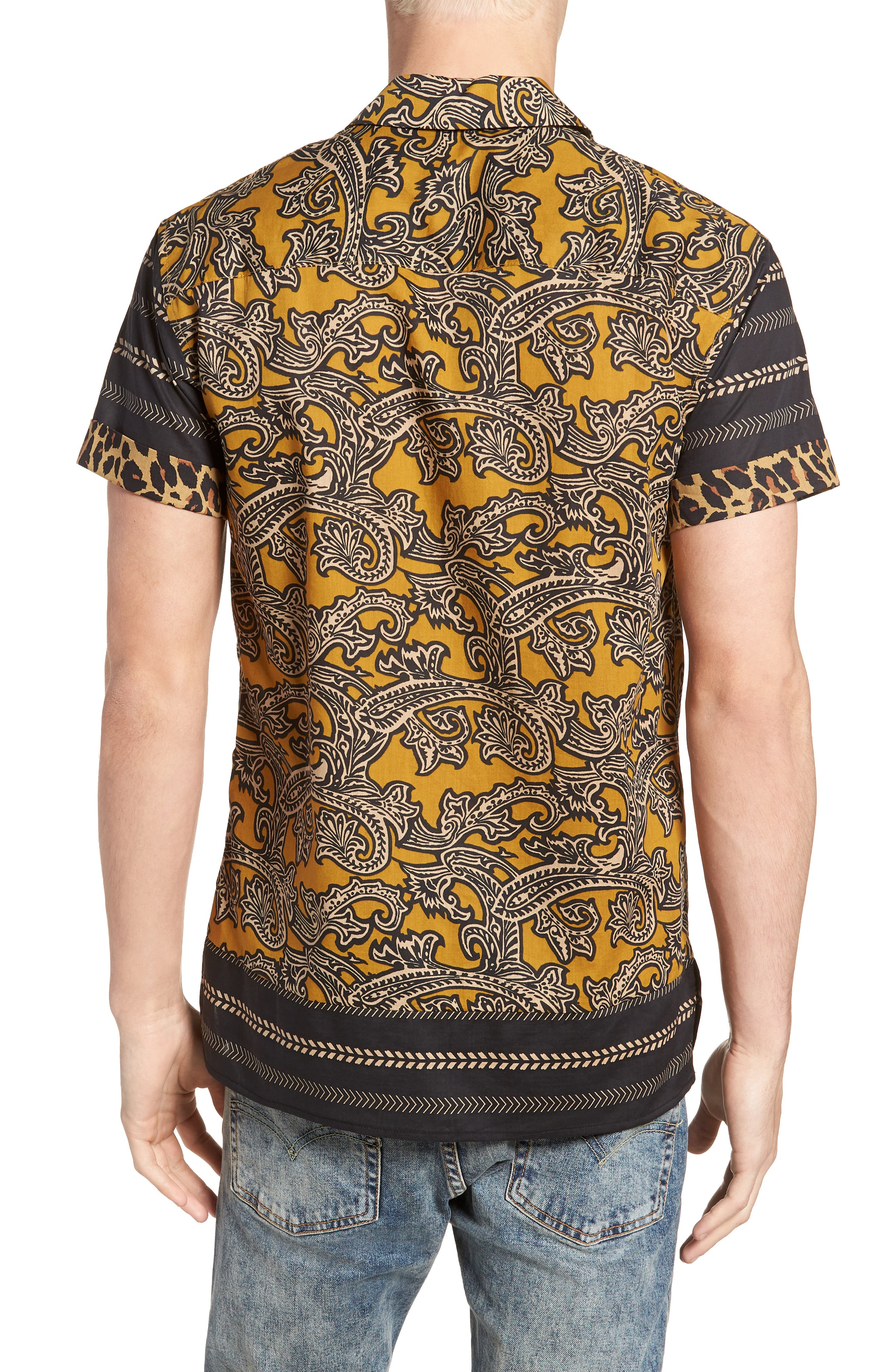 Woven Print Shirt,                             Alternate thumbnail 3, color,                             Combo A
