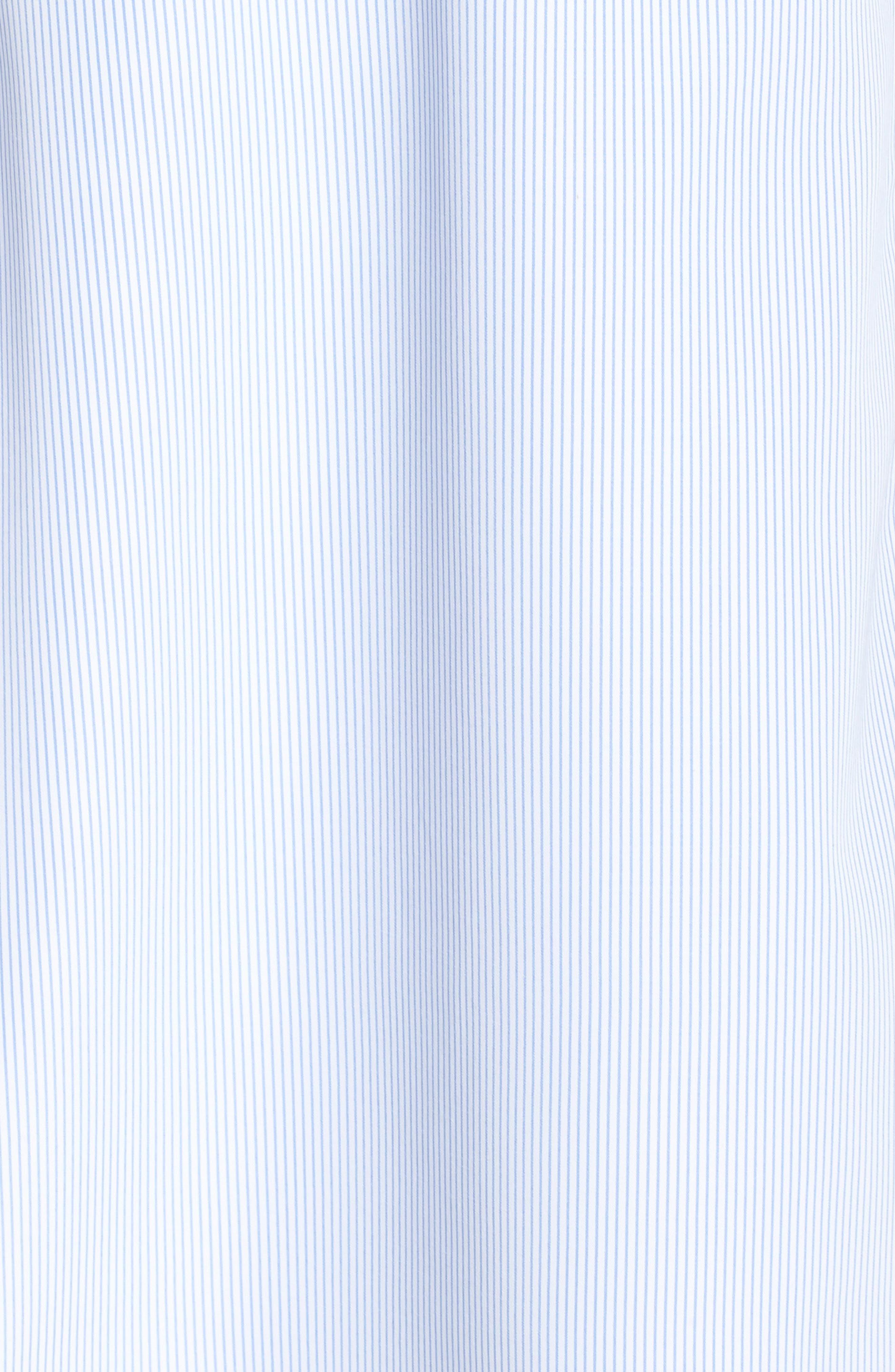 Stripe Wrap Dress,                             Alternate thumbnail 4, color,                             Blue