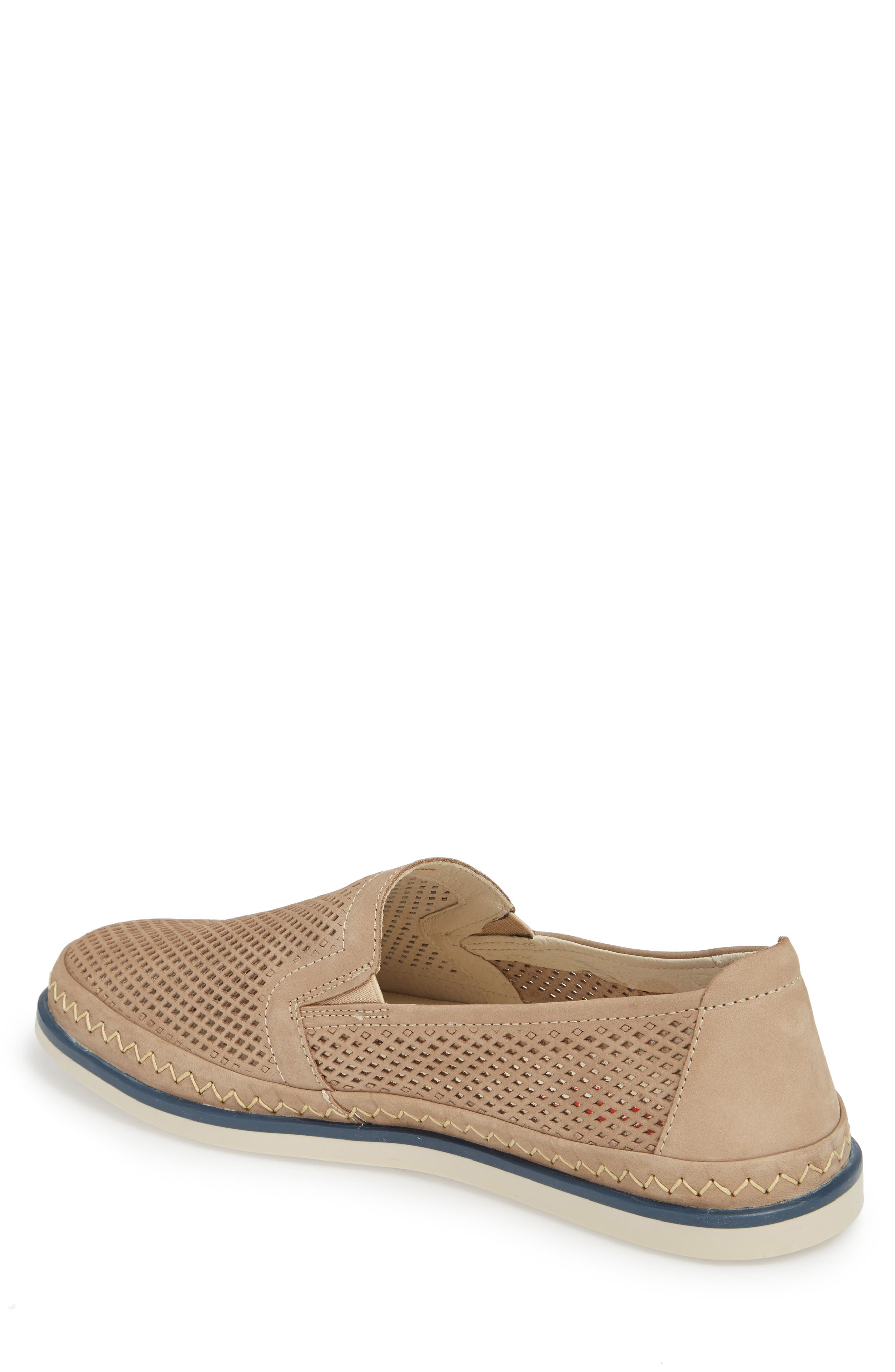 Linares Slip-On Loafer,                             Alternate thumbnail 2, color,                             Piedra Leather