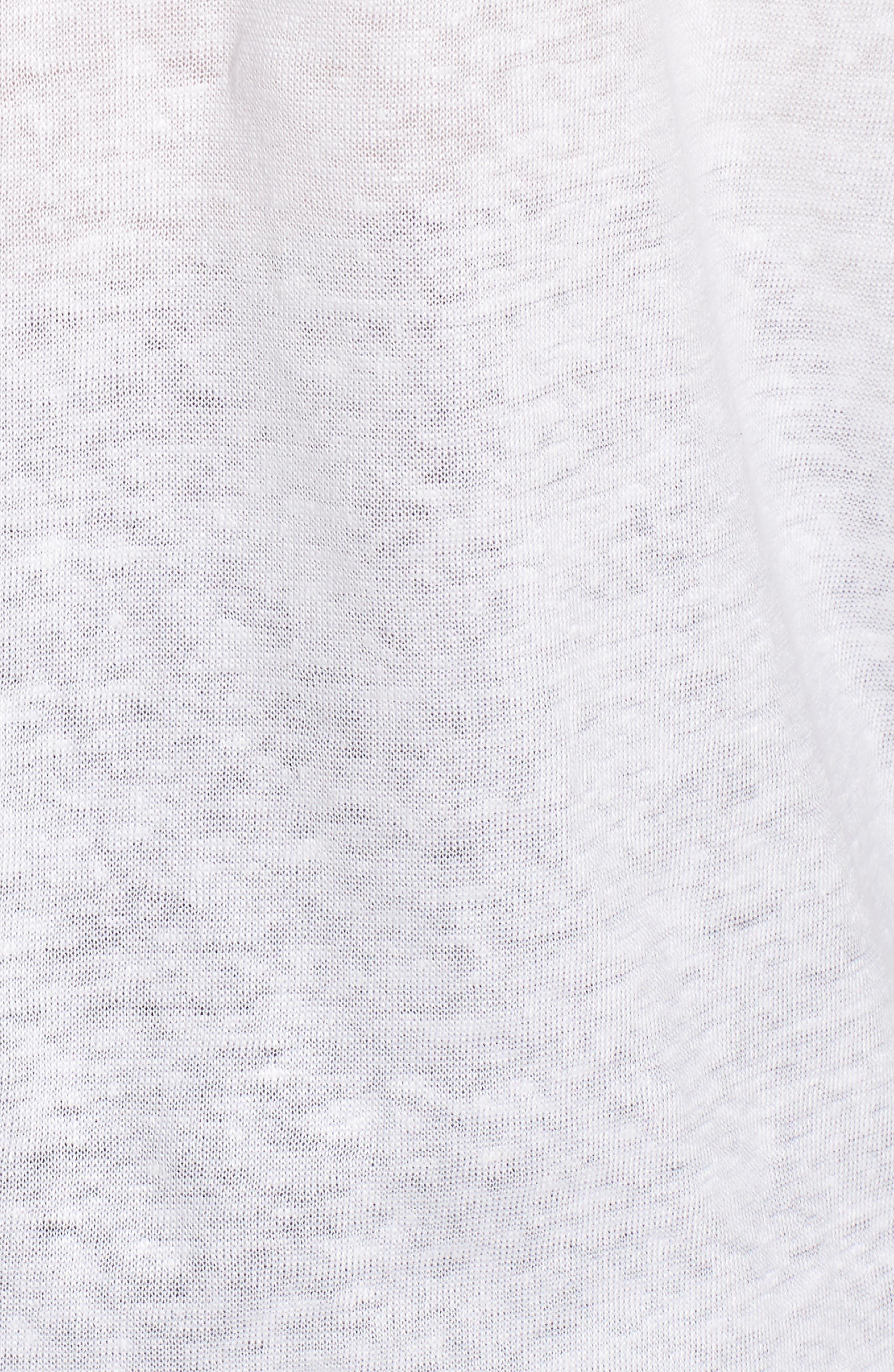 Knit Linen Hoodie,                             Alternate thumbnail 6, color,                             White