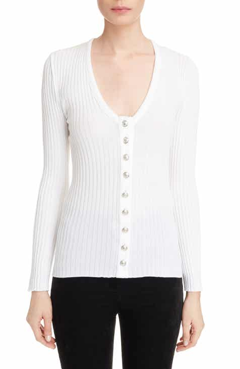 Balmain Button Front Knit Top by BALMAIN