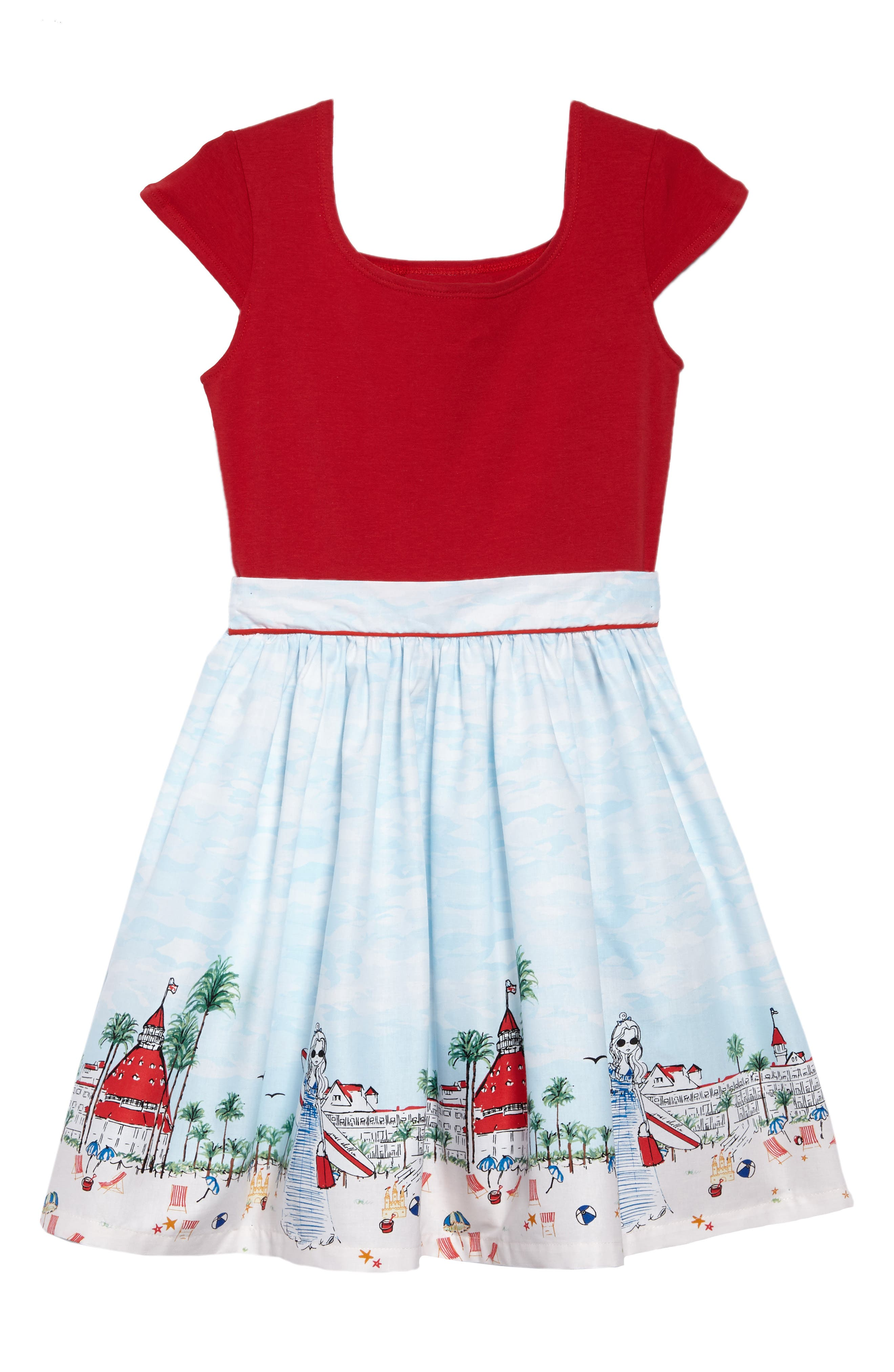 Just Shellin Abbie Dress,                         Main,                         color, Red