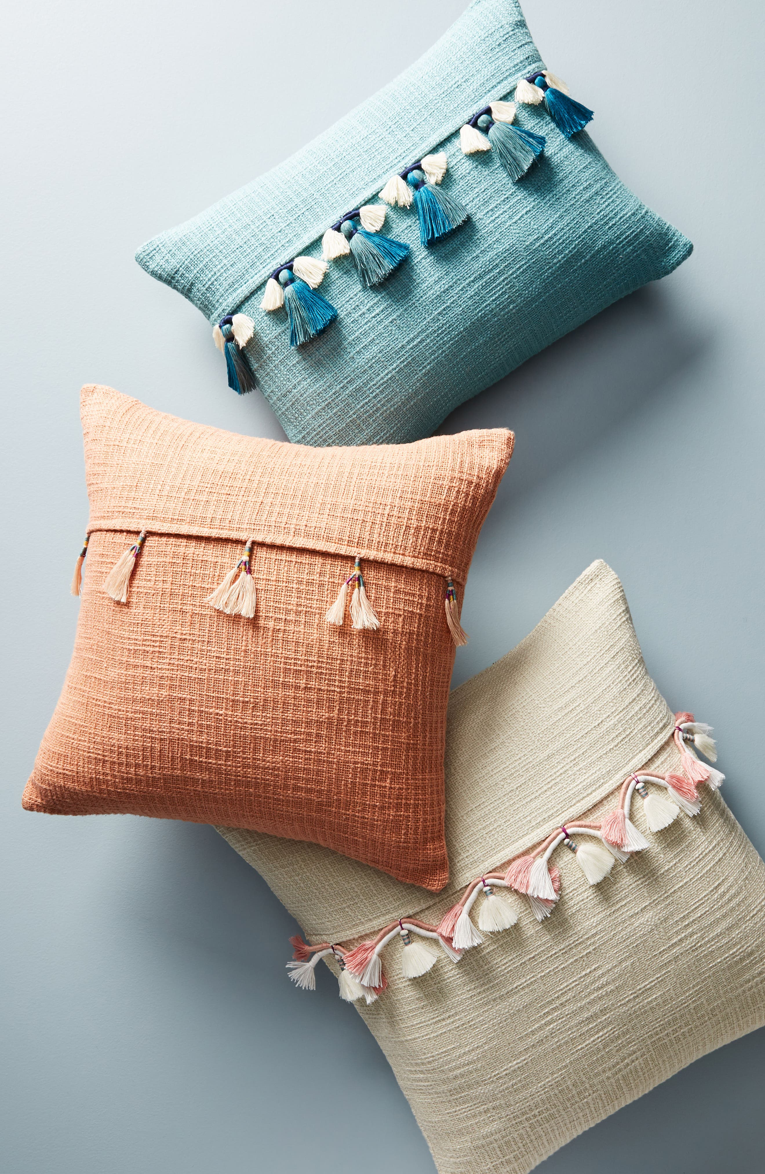 Varied Tassel Accent Pillow,                             Alternate thumbnail 2, color,