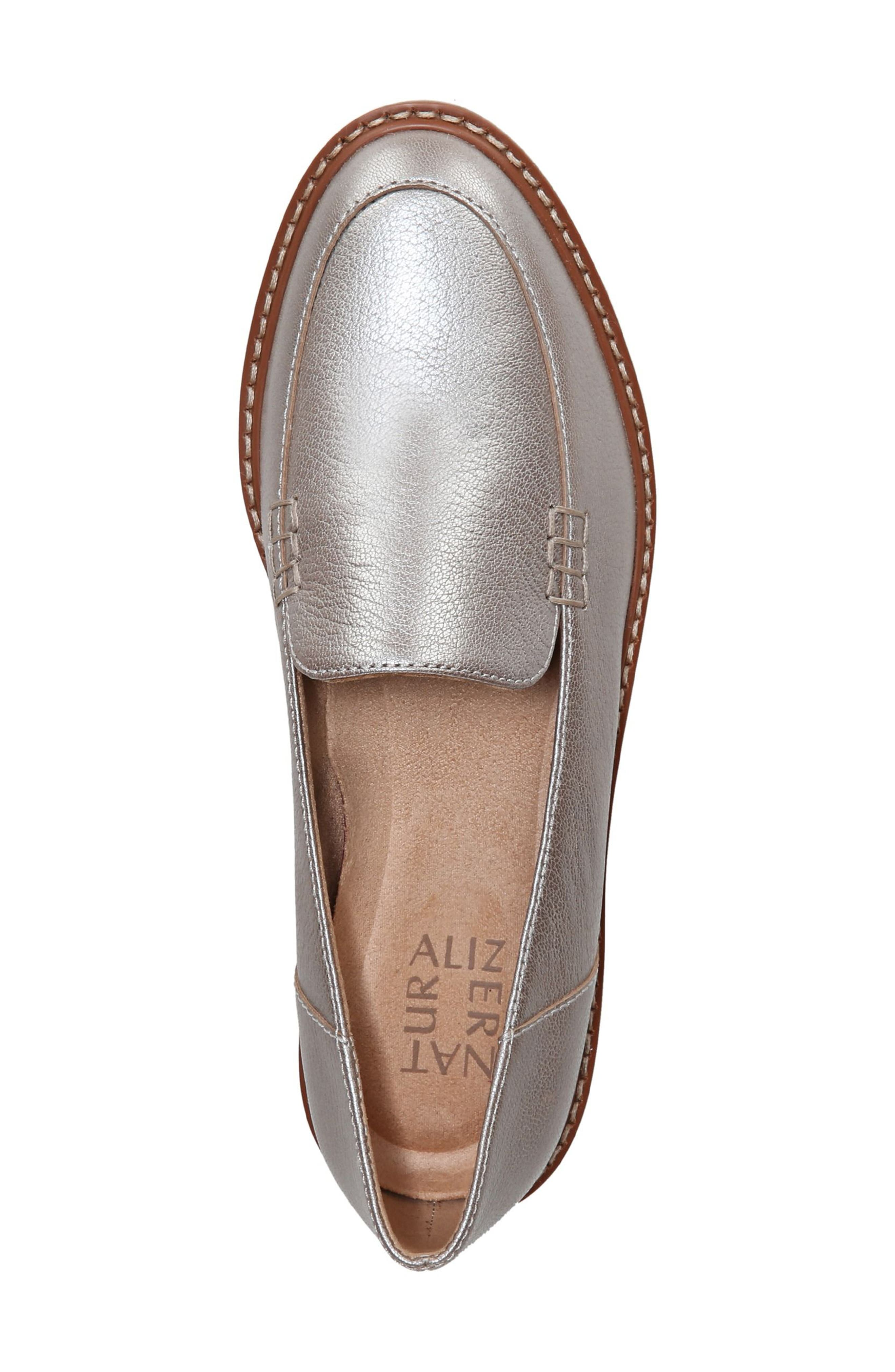 Andie Loafer,                             Alternate thumbnail 5, color,                             Silver Leather